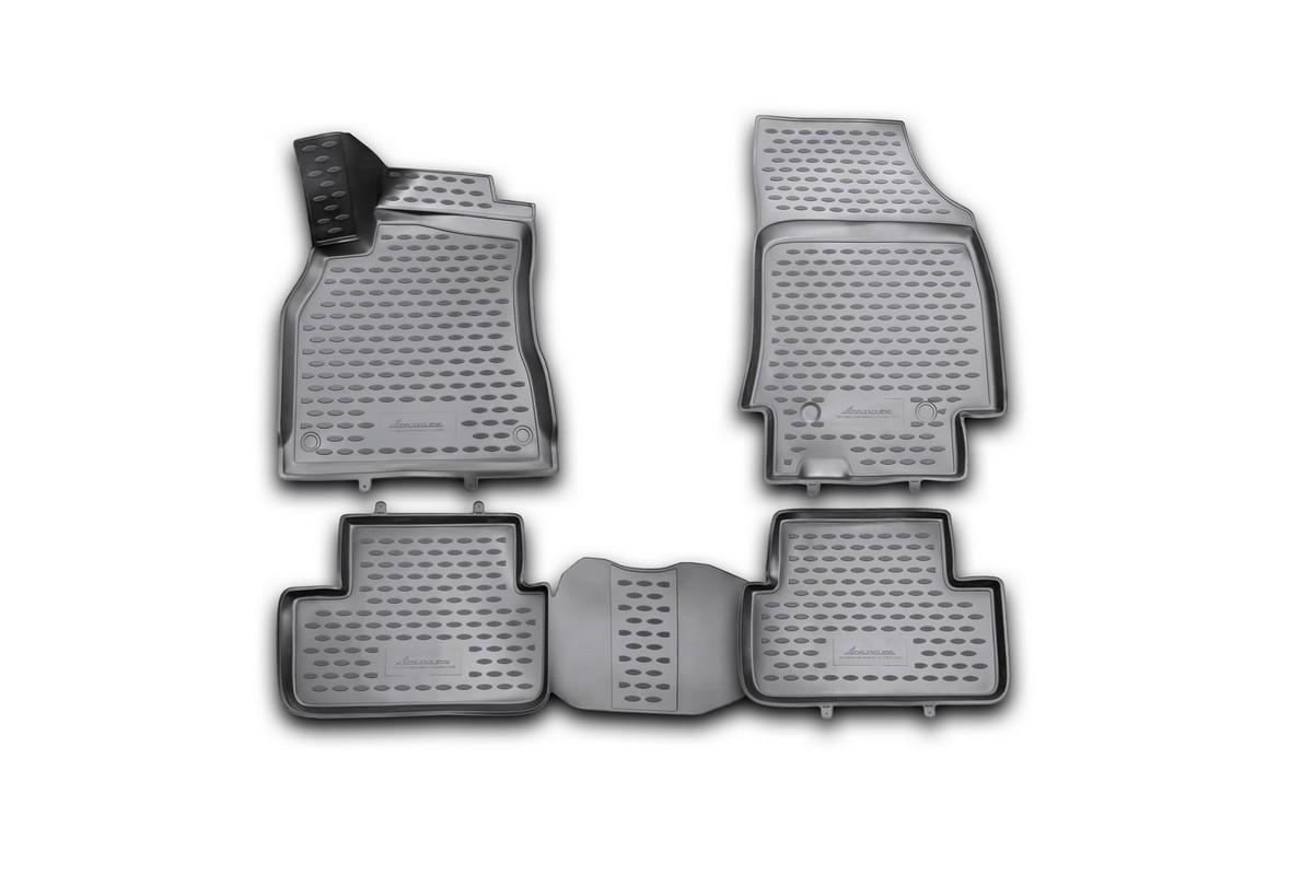 Набор автомобильных 3D-ковриков Novline-Autofamily для Renault Fluence, 2010->, в салон, 4 штВетерок 2ГФНабор Novline-Autofamily состоит из 4 ковриков, изготовленных из полиуретана.Основная функция ковров - защита салона автомобиля от загрязнения и влаги. Это достигается за счет высоких бортов, перемычки на тоннель заднего ряда сидений, элементов формы и текстуры, свойств материала, а также запатентованной технологией 3D-перемычки в зоне отдыха ноги водителя, что обеспечивает дополнительную защиту, сохраняя салон автомобиля в первозданном виде.Материал, из которого сделаны коврики, обладает антискользящими свойствами. Для фиксации ковров в салоне автомобиля в комплекте с ними используются специальные крепежи. Форма передней части водительского ковра, уходящая под педаль акселератора, исключает нештатное заедание педалей.Набор подходит для Renault Fluence с 2010 года выпуска.