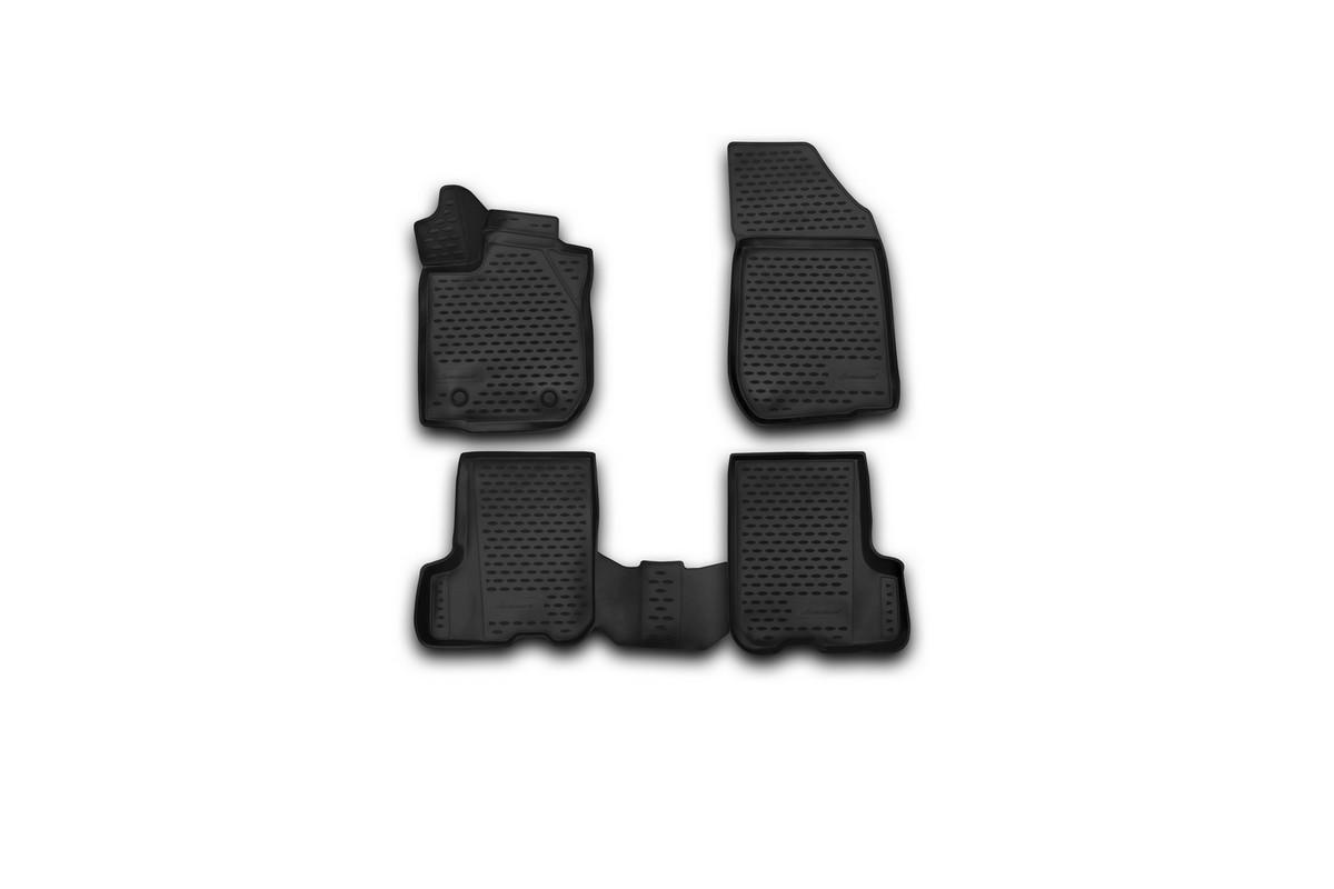 Набор автомобильных 3D-ковриков Novline-Autofamily для Renault Sandero/Sandero Stepway, 2014->, в салон, 4 штTEMP-05Набор Novline-Autofamily состоит из 4 ковриков, изготовленных из полиуретана.Основная функция ковров - защита салона автомобиля от загрязнения и влаги. Это достигается за счет высоких бортов, перемычки на тоннель заднего ряда сидений, элементов формы и текстуры, свойств материала, а также запатентованной технологией 3D-перемычки в зоне отдыха ноги водителя, что обеспечивает дополнительную защиту, сохраняя салон автомобиля в первозданном виде.Материал, из которого сделаны коврики, обладает антискользящими свойствами. Для фиксации ковров в салоне автомобиля в комплекте с ними используются специальные крепежи. Форма передней части водительского ковра, уходящая под педаль акселератора, исключает нештатное заедание педалей.Набор подходит для Renault Sandero/Sandero Stepway c 2014 года выпуска.
