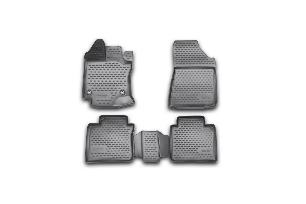 Коврики 3D в салон автомобиля Novline-Autofamily для Toyota Venza, 2013 -, 4 шт94672Коврики Novline-Autofamily улучшат внешний вид салона автомобиля и надежно уберегут его от пыли, грязи и сырости, а значит, защитят кузов от коррозии. Полиуретановые коврики гладкие, приятные и не пропускает влагу. Полиуретановые автомобильные коврики произведены из высококачественного материала, который держит форму и не пачкает обувь. Коврики надежно крепятся на полу и не скользят, что очень важно во время движения, особенно для водителя. Изделия из полиуретана надежно удерживают грязь и влагу, при этом всегда выглядят довольно опрятно. И чистится они очень просто: как при помощи автомобильного пылесоса, так и различными моющими средствами.