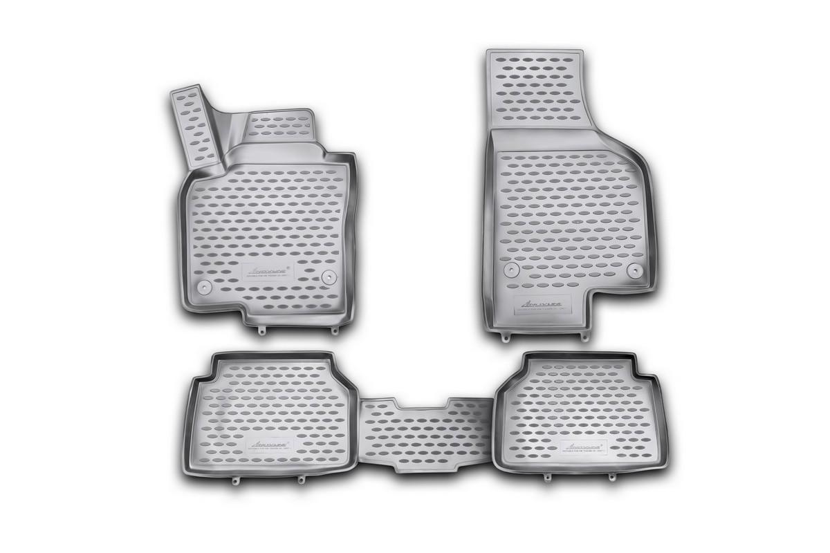 Коврики 3D в салон автомобиля Novline-Autofamily для VW Tiguan, 10/2007 -, 4 штNLC.48.10.B11Коврики Novline-Autofamily улучшат внешний вид салона автомобиля и надежно уберегут его от пыли, грязи и сырости, а значит, защитят кузов от коррозии. Полиуретановые коврики гладкие, приятные и не пропускает влагу. Полиуретановые автомобильные коврики произведены из высококачественного материала, который держит форму и не пачкает обувь. Коврики надежно крепятся на полу и не скользят, что очень важно во время движения, особенно для водителя. Изделия из полиуретана надежно удерживают грязь и влагу, при этом всегда выглядят довольно опрятно. И чистится они очень просто: как при помощи автомобильного пылесоса, так и различными моющими средствами.