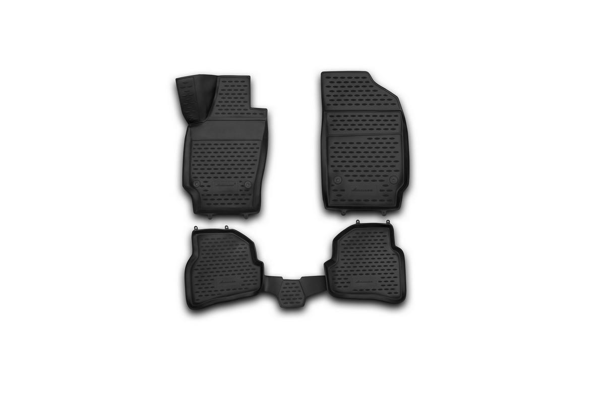 Набор автомобильных 3D-ковриков Novline-Autofamily для Volkswagen Polo, 2009->, хэтчбек, в салон, 4 штNLC.3D.51.28.210khНабор Novline-Autofamily состоит из 4 ковриков, изготовленных из полиуретана.Основная функция ковров - защита салона автомобиля от загрязнения и влаги. Это достигается за счет высоких бортов, перемычки на тоннель заднего ряда сидений, элементов формы и текстуры, свойств материала, а также запатентованной технологией 3D-перемычки в зоне отдыха ноги водителя, что обеспечивает дополнительную защиту, сохраняя салон автомобиля в первозданном виде.Материал, из которого сделаны коврики, обладает антискользящими свойствами. Для фиксации ковров в салоне автомобиля в комплекте с ними используются специальные крепежи. Форма передней части водительского ковра, уходящая под педаль акселератора, исключает нештатное заедание педалей.Набор подходит для Volkswagen Polo хэтчбек с 2009 года выпуска.