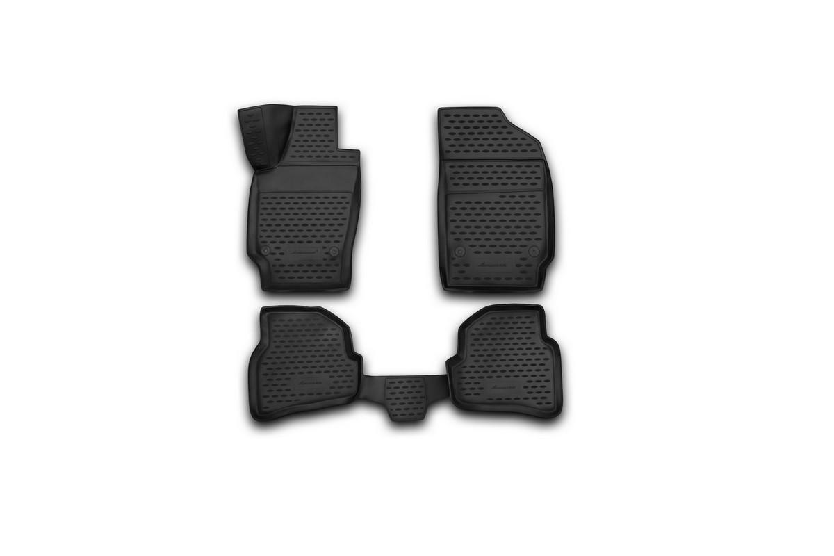 Коврики 3D в салон автомобиля Novline-Autofamily для VW Polo, 2010 -, седан, 4 шт94672Коврики Novline-Autofamily улучшат внешний вид салона автомобиля и надежно уберегут его от пыли, грязи и сырости, а значит, защитят кузов от коррозии. Полиуретановые коврики гладкие, приятные и не пропускает влагу. Полиуретановые автомобильные коврики произведены из высококачественного материала, который держит форму и не пачкает обувь. Коврики надежно крепятся на полу и не скользят, что очень важно во время движения, особенно для водителя. Изделия из полиуретана надежно удерживают грязь и влагу, при этом всегда выглядят довольно опрятно. И чистится они очень просто: как при помощи автомобильного пылесоса, так и различными моющими средствами.