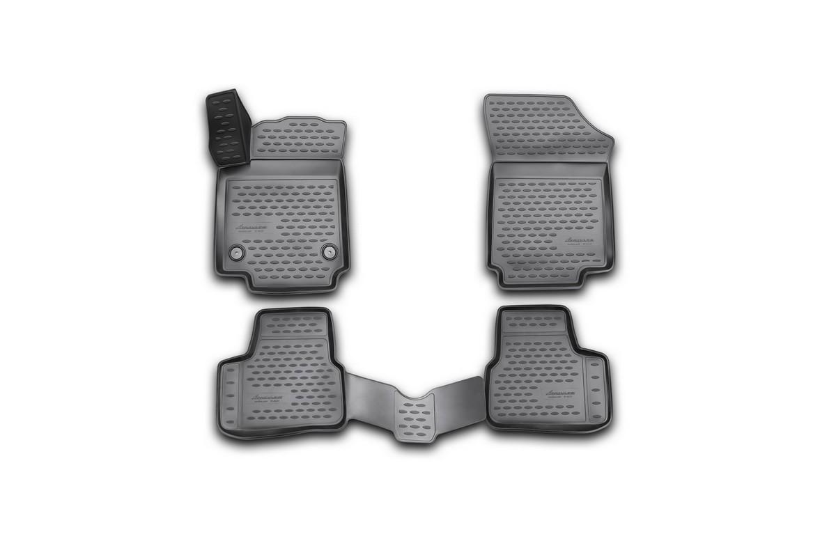 Набор автомобильных 3D-ковриков Novline-Autofamily для Volkswagen Up, 2011->, в салон, 4 штNLT.10.13.11.110khНабор Novline-Autofamily состоит из 4 ковриков, изготовленных из полиуретана.Основная функция ковров - защита салона автомобиля от загрязнения и влаги. Это достигается за счет высоких бортов, перемычки на тоннель заднего ряда сидений, элементов формы и текстуры, свойств материала, а также запатентованной технологией 3D-перемычки в зоне отдыха ноги водителя, что обеспечивает дополнительную защиту, сохраняя салон автомобиля в первозданном виде.Материал, из которого сделаны коврики, обладает антискользящими свойствами. Для фиксации ковров в салоне автомобиля в комплекте с ними используются специальные крепежи. Форма передней части водительского ковра, уходящая под педаль акселератора, исключает нештатное заедание педалей.Набор подходит для Volkswagen Up с 2011 года выпуска.