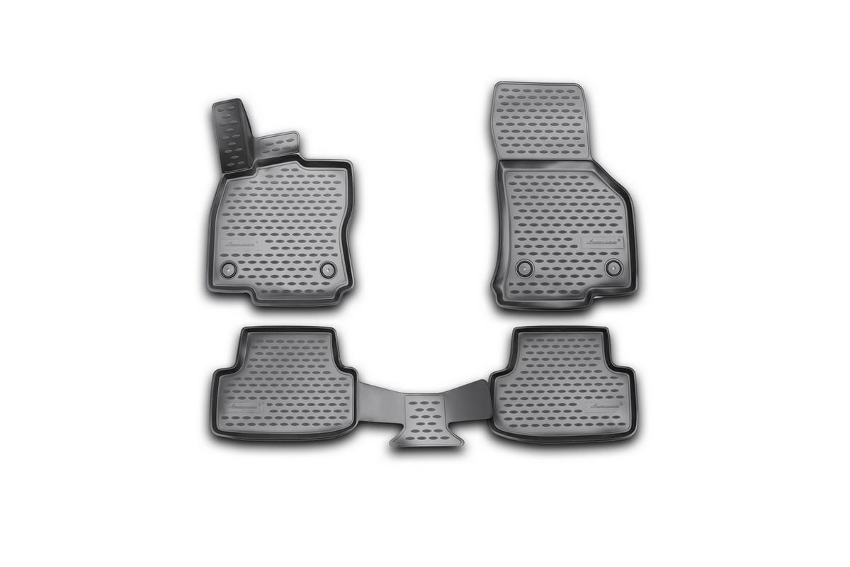 Набор автомобильных 3D-ковриков Novline-Autofamily для Volkswagen Golf VII, 2013->, в салон, 4 штNLC.3D.51.44.210kНабор Novline-Autofamily состоит из 4 ковриков, изготовленных из полиуретана.Основная функция ковров - защита салона автомобиля от загрязнения и влаги. Это достигается за счет высоких бортов, перемычки на тоннель заднего ряда сидений, элементов формы и текстуры, свойств материала, а также запатентованной технологией 3D-перемычки в зоне отдыха ноги водителя, что обеспечивает дополнительную защиту, сохраняя салон автомобиля в первозданном виде.Материал, из которого сделаны коврики, обладает антискользящими свойствами. Для фиксации ковров в салоне автомобиля в комплекте с ними используются специальные крепежи. Форма передней части водительского ковра, уходящая под педаль акселератора, исключает нештатное заедание педалей.Набор подходит для Volkswagen Golf VII с 2013 года выпуска.