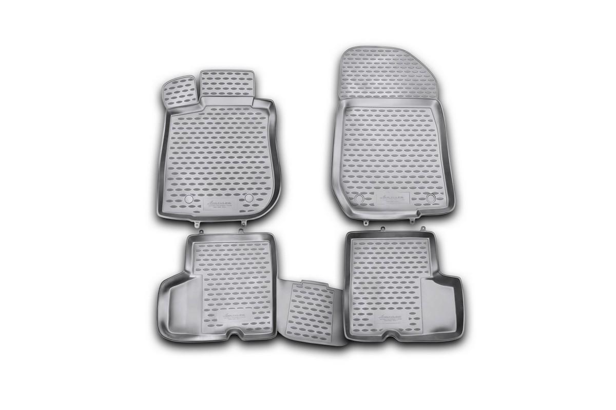 Набор автомобильных ковриков Novline-Autofamily для Renault Logan 2004-2009, 2010-, в салон, 4 шт240000Набор автомобильных ковриков Novline-Autofamily, изготовленный из полиуретана, состоит из 4 ковриков, которые учитывают все особенности каждой модели автомобиля и полностью повторяют контуры пола. Полиуретановые автомобильные коврики для салона произведены из высококачественного материала, который держит форму, прочный и не пачкает обувь. Коврики в салон не только улучшат внешний вид салона вашего автомобиля, но и надежно уберегут его от пыли, грязи и сырости, а значит, защитят кузов от коррозии. Полиуретановые коврики для автомобиля гладкие, приятные и не пропускают влагу. Ковры для автомобилей надежно крепятся на полу и не скользят, что очень важно во время движения. Чистятся коврики очень просто: как при помощи автомобильного пылесоса, так и различными моющими средствами. Набор подходит для Renault Logan 2004-2009, 2010 и позднее годов выпуска.
