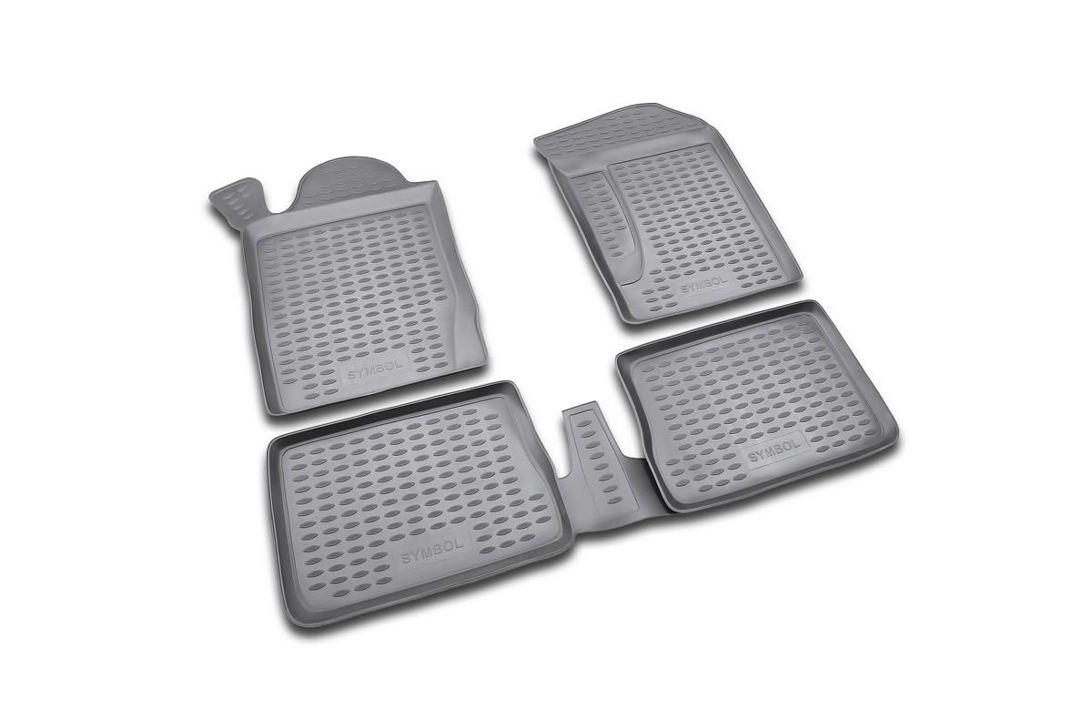 Набор автомобильных ковриков Novline-Autofamily для Renault Symbol 2002-, в салон, 4 штВетерок 2ГФНабор автомобильных ковриков Novline-Autofamily, изготовленный из полиуретана, состоит из 4 ковриков, которые учитывают все особенности каждой модели автомобиля и полностью повторяют контуры пола. Полиуретановые автомобильные коврики для салона произведены из высококачественного материала, который держит форму, прочный и не пачкает обувь. Коврики в салон не только улучшат внешний вид салона вашего автомобиля, но и надежно уберегут его от пыли, грязи и сырости, а значит, защитят кузов от коррозии. Полиуретановые коврики для автомобиля гладкие, приятные и не пропускают влагу. Ковры для автомобилей надежно крепятся на полу и не скользят, что очень важно во время движения. Чистятся коврики очень просто: как при помощи автомобильного пылесоса, так и различными моющими средствами. Набор подходит для Renault Symbol с 2002 года выпуска.