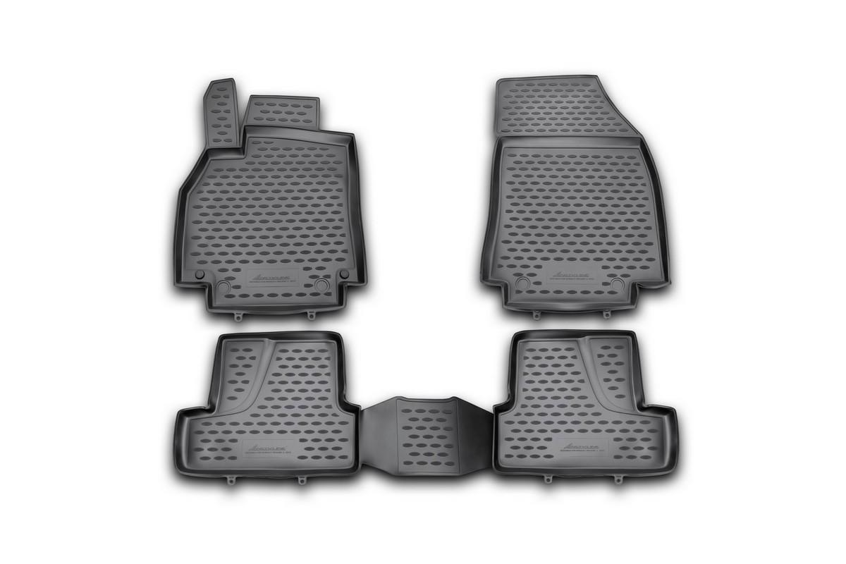 Набор автомобильных ковриков Novline-Autofamily для Renault Megane 3 2010-, в салон, 4 шт54 009318Набор автомобильных ковриков Novline-Autofamily, изготовленный из полиуретана, состоит из 4 ковриков, которые учитывают все особенности каждой модели автомобиля и полностью повторяют контуры пола. Полиуретановые автомобильные коврики для салона произведены из высококачественного материала, который держит форму, прочный и не пачкает обувь. Коврики в салон не только улучшат внешний вид салона вашего автомобиля, но и надежно уберегут его от пыли, грязи и сырости, а значит, защитят кузов от коррозии. Полиуретановые коврики для автомобиля гладкие, приятные и не пропускают влагу. Ковры для автомобилей надежно крепятся на полу и не скользят, что очень важно во время движения. Чистятся коврики очень просто: как при помощи автомобильного пылесоса, так и различными моющими средствами. Набор подходит для Renault Megane 3 с 2010 года выпуска.
