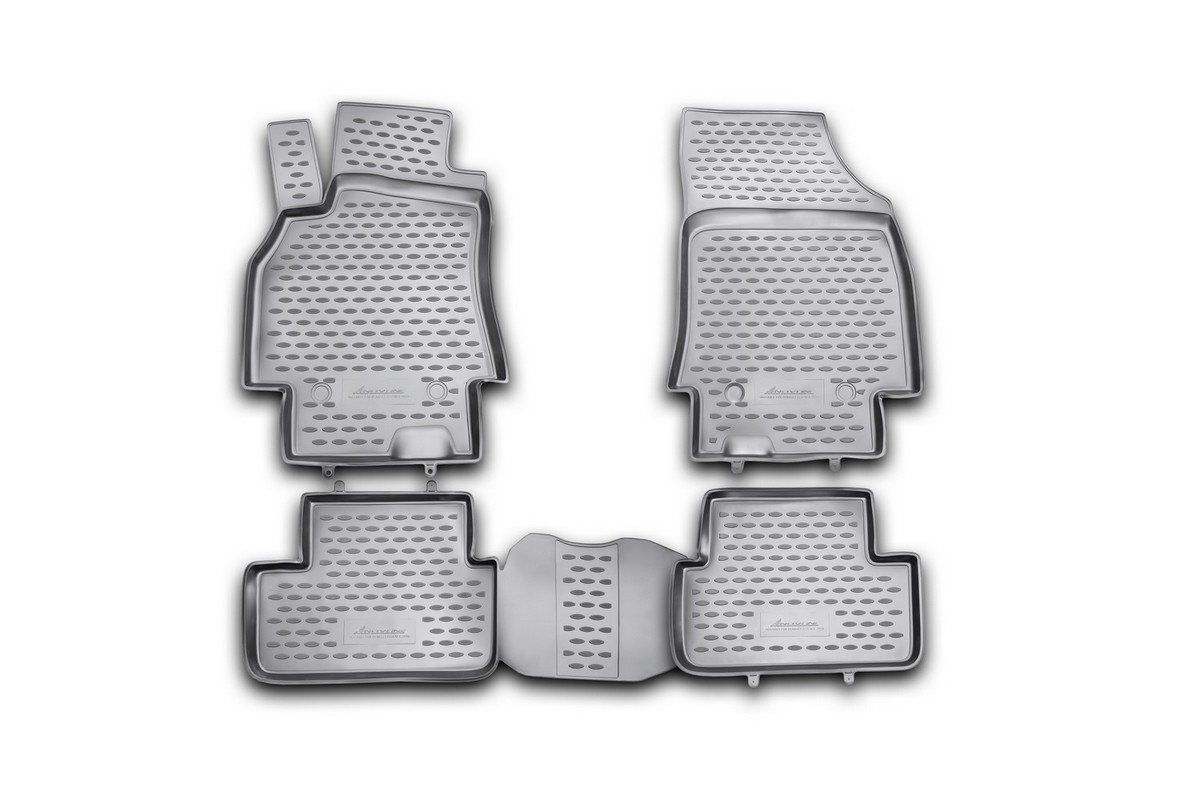 Набор автомобильных ковриков Novline-Autofamily для Renault Fluence 2010-, в салон, 4 шт. NLC.41.19.210kh54 009318Набор автомобильных ковриков Novline-Autofamily, изготовленный из полиуретана, состоит из 4 ковриков, которые учитывают все особенности каждой модели автомобиля и полностью повторяют контуры пола. Полиуретановые автомобильные коврики для салона произведены из высококачественного материала, который держит форму, прочный и не пачкает обувь. Коврики в салон не только улучшат внешний вид салона вашего автомобиля, но и надежно уберегут его от пыли, грязи и сырости, а значит, защитят кузов от коррозии. Полиуретановые коврики для автомобиля гладкие, приятные и не пропускают влагу. Ковры для автомобилей надежно крепятся на полу и не скользят, что очень важно во время движения. Чистятся коврики очень просто: как при помощи автомобильного пылесоса, так и различными моющими средствами. Набор подходит для Renault Fluence с 2010 года выпуска.
