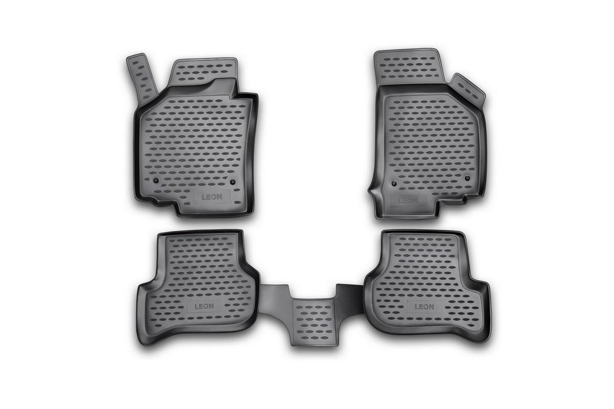 Набор автомобильных ковриков Novline-Autofamily для Seat Leon 10/2007-, в салон, 4 штSC-FD421005Набор автомобильных ковриков Novline-Autofamily, изготовленный из полиуретана, состоит из 4 ковриков, которые учитывают все особенности каждой модели автомобиля и полностью повторяют контуры пола. Полиуретановые автомобильные коврики для салона произведены из высококачественного материала, который держит форму, прочный и не пачкает обувь. Коврики в салон не только улучшат внешний вид салона вашего автомобиля, но и надежно уберегут его от пыли, грязи и сырости, а значит, защитят кузов от коррозии. Полиуретановые коврики для автомобиля гладкие, приятные и не пропускают влагу. Ковры для автомобилей надежно крепятся на полу и не скользят, что очень важно во время движения. Чистятся коврики очень просто: как при помощи автомобильного пылесоса, так и различными моющими средствами. Набор подходит для Seat Leon с октября 2007 года выпуска.