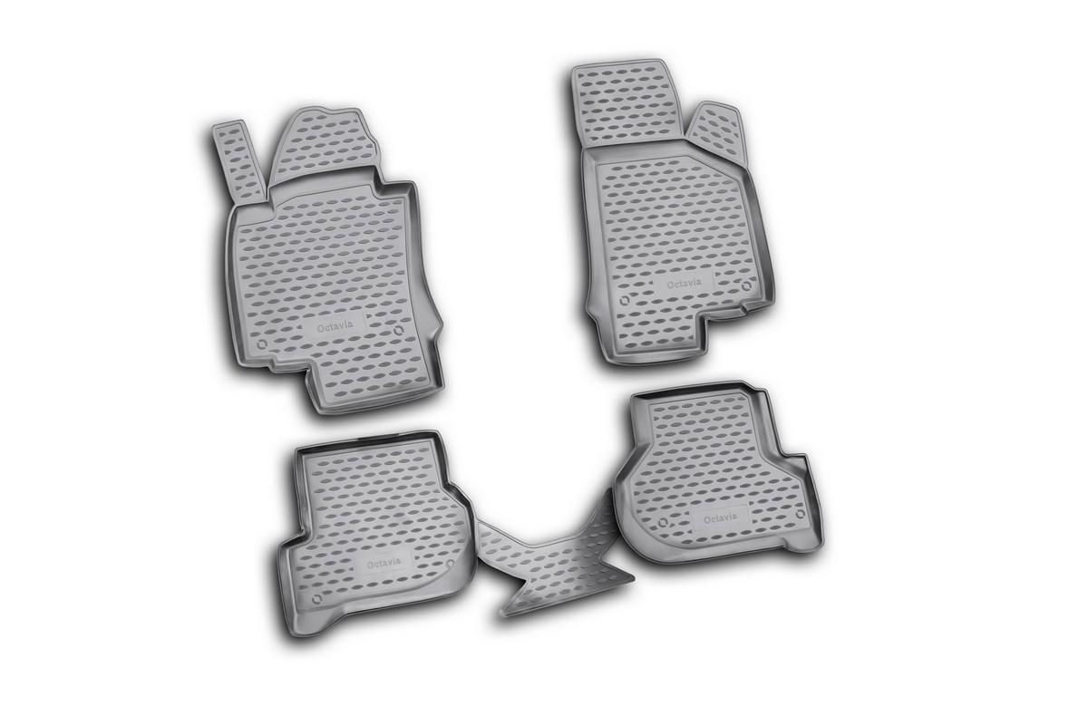 Коврики в салон автомобиля Novline-Autofamily для Skoda Octavia II, 03/2008 -, 4 штCM000001326Коврики Novline-Autofamily улучшат внешний вид салона автомобиля и надежно уберегут его от пыли, грязи и сырости, а значит, защитят кузов от коррозии. Полиуретановые коврики гладкие, приятные и не пропускает влагу. Полиуретановые автомобильные коврики произведены из высококачественного материала, который держит форму и не пачкает обувь. Коврики надежно крепятся на полу и не скользят, что очень важно во время движения, особенно для водителя. Изделия из полиуретана надежно удерживают грязь и влагу, при этом всегда выглядят довольно опрятно. И чистятся они очень просто: как при помощи автомобильного пылесоса, так и различными моющими средствами.