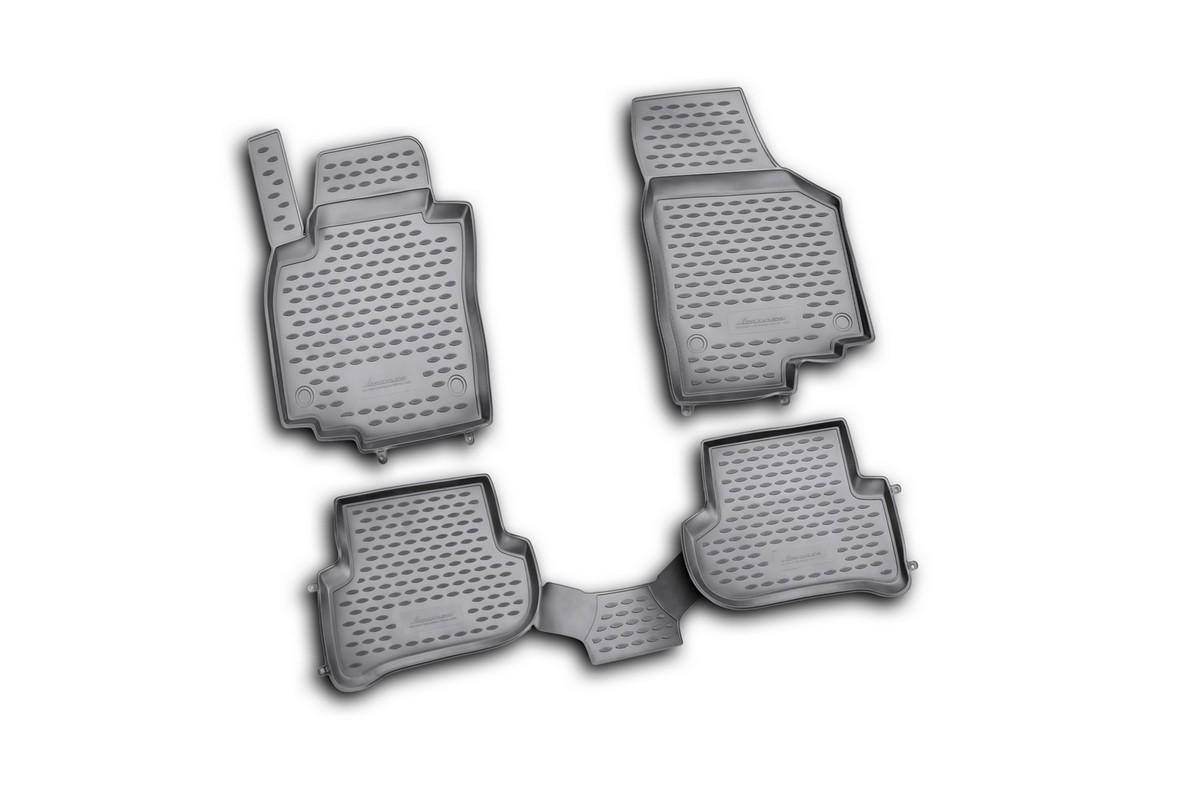 Коврики в салон автомобиля Novline-Autofamily для Skoda Yeti, 03/2009 -, 4 шт15105003Коврики Novline-Autofamily улучшат внешний вид салона автомобиля и надежно уберегут его от пыли, грязи и сырости, а значит, защитят кузов от коррозии. Полиуретановые коврики гладкие, приятные и не пропускает влагу. Полиуретановые автомобильные коврики произведены из высококачественного материала, который держит форму и не пачкает обувь. Коврики надежно крепятся на полу и не скользят, что очень важно во время движения, особенно для водителя. Изделия из полиуретана надежно удерживают грязь и влагу, при этом всегда выглядят довольно опрятно. И чистятся они очень просто: как при помощи автомобильного пылесоса, так и различными моющими средствами.