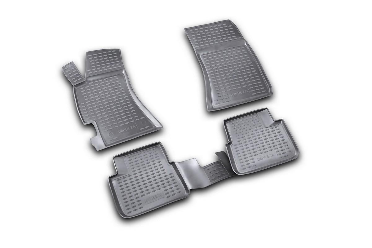 Набор автомобильных ковриков Novline-Autofamily для Subaru Impreza 2007-, в салон, 4 шт. NLC.46.07.210kВетерок 2ГФНабор автомобильных ковриков Novline-Autofamily, изготовленный из полиуретана, состоит из 4 ковриков, которые учитывают все особенности каждой модели автомобиля и полностью повторяют контуры пола. Полиуретановые автомобильные коврики для салона произведены из высококачественного материала, который держит форму, прочный и не пачкает обувь. Коврики в салон не только улучшат внешний вид салона вашего автомобиля, но и надежно уберегут его от пыли, грязи и сырости, а значит, защитят кузов от коррозии. Полиуретановые коврики для автомобиля гладкие, приятные и не пропускают влагу. Ковры для автомобилей надежно крепятся на полу и не скользят, что очень важно во время движения. Чистятся коврики очень просто: как при помощи автомобильного пылесоса, так и различными моющими средствами. Набор подходит для Subaru Impreza с 2007 года выпуска.