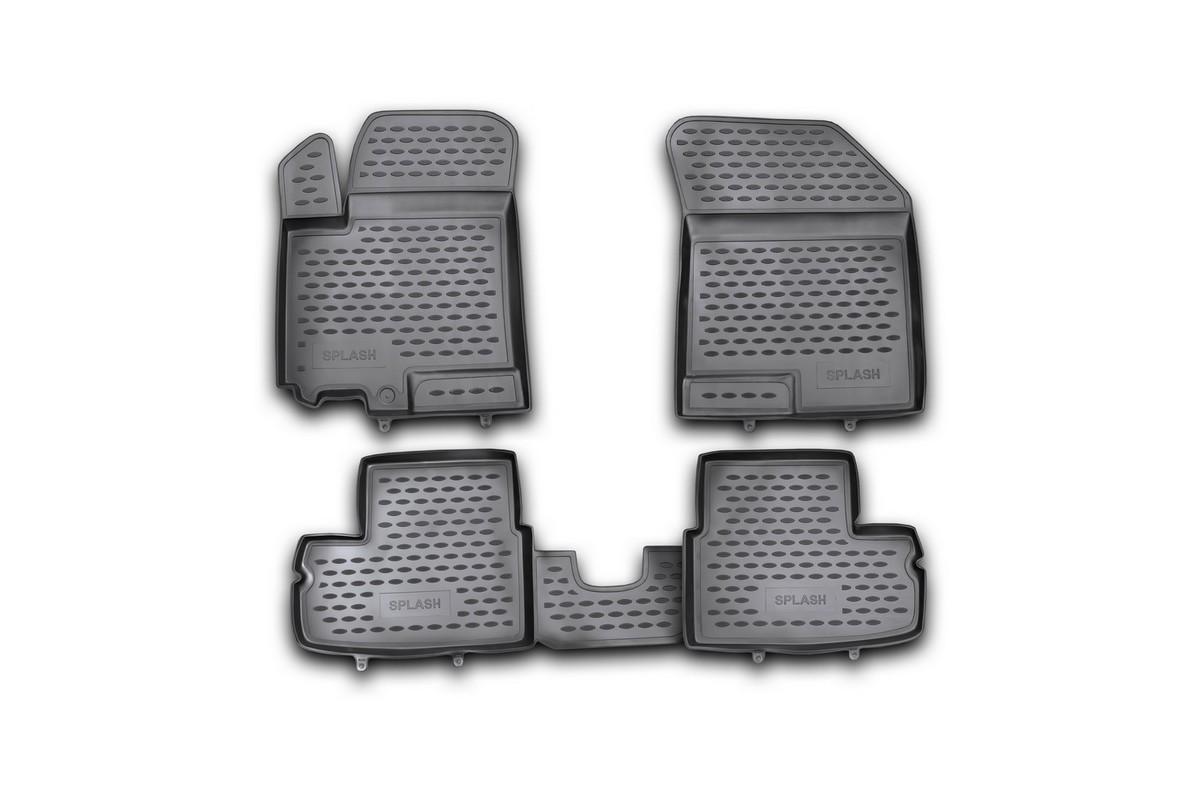 Набор автомобильных ковриков Novline-Autofamily для Suzuki Splash 05/2009- в салон, 4 шт21395599Набор автомобильных ковриков Novline-Autofamily, изготовленный из полиуретана, состоит из 4 ковриков, которые учитывают все особенности каждой модели автомобиля и полностью повторяют контуры пола. Полиуретановые автомобильные коврики для салона произведены из высококачественного материала, который держит форму, прочный и не пачкает обувь. Коврики в салон не только улучшат внешний вид салона вашего автомобиля, но и надежно уберегут его от пыли, грязи и сырости, а значит, защитят кузов от коррозии. Полиуретановые коврики для автомобиля гладкие, приятные и не пропускают влагу. Ковры для автомобилей надежно крепятся на полу и не скользят, что очень важно во время движения. Чистятся коврики очень просто: как при помощи автомобильного пылесоса, так и различными моющими средствами. Набор подходит для Suzuki Splash с мая 2009 года выпуска.