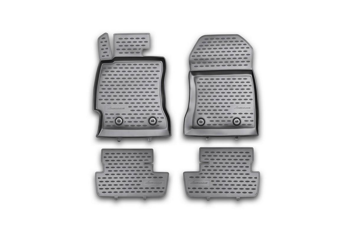 Набор автомобильных ковриков Novline-Autofamily для Toyota GT 86 2012-, в салон, 4 штCM000001326Набор автомобильных ковриков Novline-Autofamily, изготовленный из полиуретана, состоит из 4 ковриков, которые учитывают все особенности каждой модели автомобиля и полностью повторяют контуры пола. Полиуретановые автомобильные коврики для салона произведены из высококачественного материала, который держит форму, прочный и не пачкает обувь. Коврики в салон не только улучшат внешний вид салона вашего автомобиля, но и надежно уберегут его от пыли, грязи и сырости, а значит, защитят кузов от коррозии. Полиуретановые коврики для автомобиля гладкие, приятные и не пропускают влагу. Ковры для автомобилей надежно крепятся на полу и не скользят, что очень важно во время движения. Чистятся коврики очень просто: как при помощи автомобильного пылесоса, так и различными моющими средствами. Набор подходит для Toyota GT 86 с 2012 года выпуска.