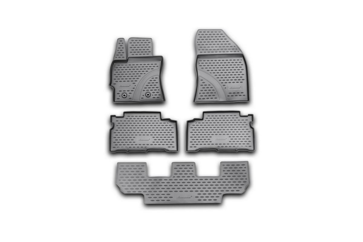 Набор автомобильных ковриков Novline-Autofamily для Toyota Verso 2013-, в салон, 5 шт98298130Набор автомобильных ковриков Novline-Autofamily, изготовленный из полиуретана, состоит из 5 ковриков, которые учитывают все особенности каждой модели автомобиля и полностью повторяют контуры пола. Полиуретановые автомобильные коврики для салона произведены из высококачественного материала, который держит форму, прочный и не пачкает обувь. Коврики в салон не только улучшат внешний вид салона вашего автомобиля, но и надежно уберегут его от пыли, грязи и сырости, а значит, защитят кузов от коррозии. Полиуретановые коврики для автомобиля гладкие, приятные и не пропускают влагу. Ковры для автомобилей надежно крепятся на полу и не скользят, что очень важно во время движения. Чистятся коврики очень просто: как при помощи автомобильного пылесоса, так и различными моющими средствами. Набор подходит для Toyota Verso с 2013 года выпуска.
