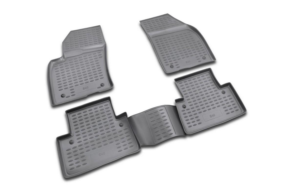 Набор автомобильных ковриков Novline-Autofamily для Volvo S40 2004-, в салон, 4 штFS-80264Набор автомобильных ковриков Novline-Autofamily, изготовленный из полиуретана, состоит из 4 ковриков, которые учитывают все особенности каждой модели автомобиля и полностью повторяют контуры пола. Полиуретановые автомобильные коврики для салона произведены из высококачественного материала, который держит форму, прочный и не пачкает обувь. Коврики в салон не только улучшат внешний вид салона вашего автомобиля, но и надежно уберегут его от пыли, грязи и сырости, а значит, защитят кузов от коррозии. Полиуретановые коврики для автомобиля гладкие, приятные и не пропускают влагу. Ковры для автомобилей надежно крепятся на полу и не скользят, что очень важно во время движения. Чистятся коврики очень просто: как при помощи автомобильного пылесоса, так и различными моющими средствами. Набор подходит для Volvo S40 с 2004 года выпуска.