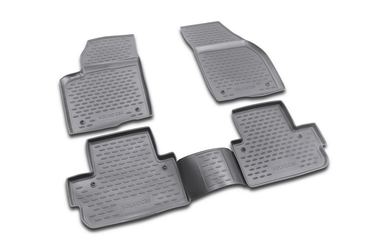 Набор автомобильных ковриков Novline-Autofamily для Volvo С30 2006-, в салон, 4 шт64105001Набор автомобильных ковриков Novline-Autofamily, изготовленный из полиуретана, состоит из 4 ковриков, которые учитывают все особенности каждой модели автомобиля и полностью повторяют контуры пола. Полиуретановые автомобильные коврики для салона произведены из высококачественного материала, который держит форму, прочный и не пачкает обувь. Коврики в салон не только улучшат внешний вид салона вашего автомобиля, но и надежно уберегут его от пыли, грязи и сырости, а значит, защитят кузов от коррозии. Полиуретановые коврики для автомобиля гладкие, приятные и не пропускают влагу. Ковры для автомобилей надежно крепятся на полу и не скользят, что очень важно во время движения. Чистятся коврики очень просто: как при помощи автомобильного пылесоса, так и различными моющими средствами. Набор подходит для Volvo С30 с 2006 года выпуска.