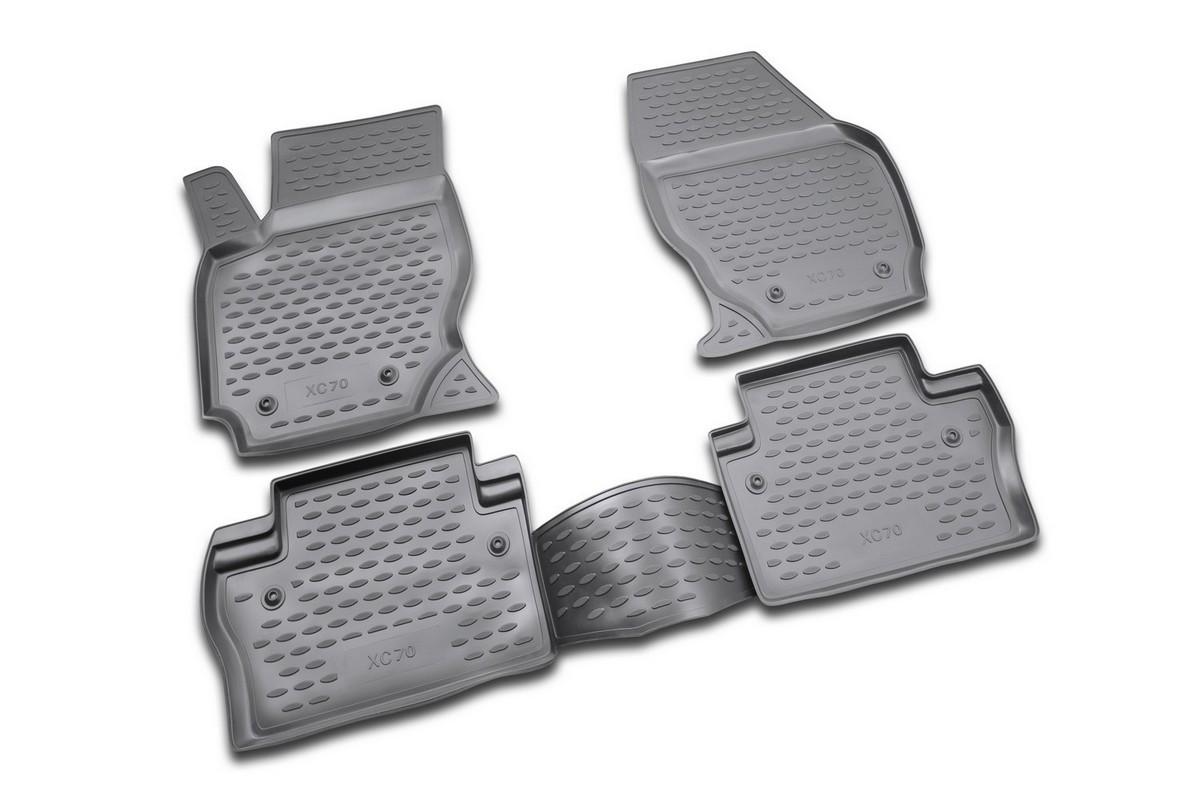 Набор автомобильных ковриков Novline-Autofamily для Volvo XC70 2007-, в салон, 4 шт240000Набор автомобильных ковриков Novline-Autofamily, изготовленный из полиуретана, состоит из 4 ковриков, которые учитывают все особенности каждой модели автомобиля и полностью повторяют контуры пола. Полиуретановые автомобильные коврики для салона произведены из высококачественного материала, который держит форму, прочный и не пачкает обувь. Коврики в салон не только улучшат внешний вид салона вашего автомобиля, но и надежно уберегут его от пыли, грязи и сырости, а значит, защитят кузов от коррозии. Полиуретановые коврики для автомобиля гладкие, приятные и не пропускают влагу. Ковры для автомобилей надежно крепятся на полу и не скользят, что очень важно во время движения. Чистятся коврики очень просто: как при помощи автомобильного пылесоса, так и различными моющими средствами. Набор подходит для Volvo XC70 с 2007 года выпуска.