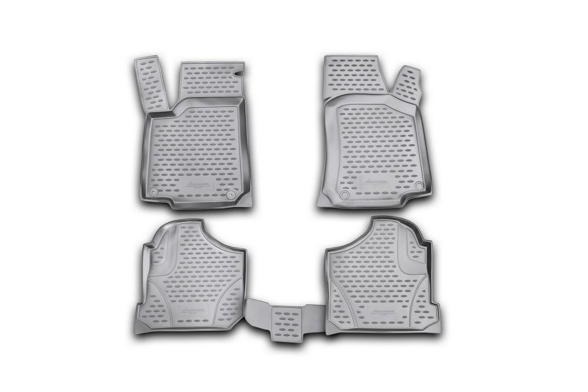 Коврики в салон автомобиля Novline-Autofamily для VW Golf IV, 1998 - 2004, 4 штст18фКоврики Novline-Autofamily улучшат внешний вид салона автомобиля и надежно уберегут его от пыли, грязи и сырости, а значит, защитят кузов от коррозии. Полиуретановые коврики гладкие, приятные и не пропускает влагу. Полиуретановые автомобильные коврики произведены из высококачественного материала, который держит форму и не пачкает обувь. Коврики надежно крепятся на полу и не скользят, что очень важно во время движения, особенно для водителя. Изделия из полиуретана надежно удерживают грязь и влагу, при этом всегда выглядят довольно опрятно. И чистятся они очень просто: как при помощи автомобильного пылесоса, так и различными моющими средствами.