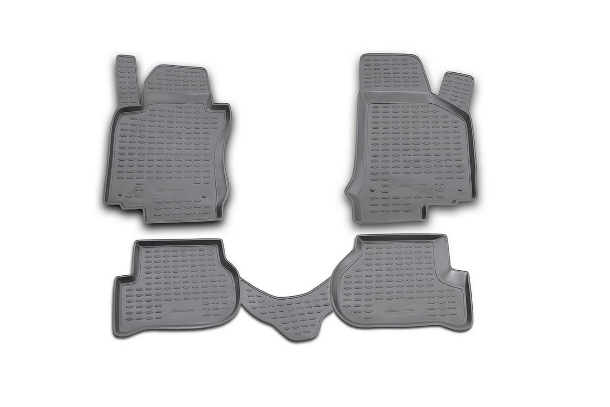 Набор автомобильных ковриков Novline-Autofamily для Volkswagen Golf V 10/2003-2009, в салон, цвет: черный, оранжевый, 4 шт21395598Набор автомобильных ковриков Novline-Autofamily, изготовленный из полиуретана, состоит из 4 ковриков, которые учитывают все особенности каждой модели автомобиля и полностью повторяют контуры пола. Полиуретановые автомобильные коврики для салона произведены из высококачественного материала, который держит форму, прочный и не пачкает обувь. Коврики в салон не только улучшат внешний вид салона вашего автомобиля, но и надежно уберегут его от пыли, грязи и сырости, а значит, защитят кузов от коррозии. Полиуретановые коврики для автомобиля гладкие, приятные и не пропускают влагу. Ковры для автомобилей надежно крепятся на полу и не скользят, что очень важно во время движения. Чистятся коврики очень просто: как при помощи автомобильного пылесоса, так и различными моющими средствами. Набор подходит для Volkswagen Golf V октябрь 2003 - 2009 годов выпуска.