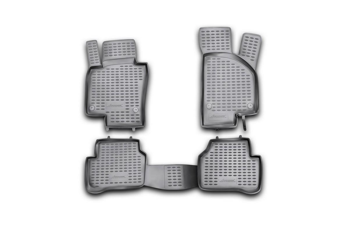 Набор автомобильных ковриков Novline-Autofamily для Volkswagen Passat B6 09/2005-, в салон, 4 шт98293777Набор автомобильных ковриков Novline-Autofamily, изготовленный из полиуретана, состоит из 4 ковриков, которые учитывают все особенности каждой модели автомобиля и полностью повторяют контуры пола. Полиуретановые автомобильные коврики для салона произведены из высококачественного материала, который держит форму, прочный и не пачкает обувь. Коврики в салон не только улучшат внешний вид салона вашего автомобиля, но и надежно уберегут его от пыли, грязи и сырости, а значит, защитят кузов от коррозии. Полиуретановые коврики для автомобиля гладкие, приятные и не пропускают влагу. Ковры для автомобилей надежно крепятся на полу и не скользят, что очень важно во время движения. Чистятся коврики очень просто: как при помощи автомобильного пылесоса, так и различными моющими средствами. Набор подходит для Volkswagen Passat B6 с сентября 2005 года выпуска.