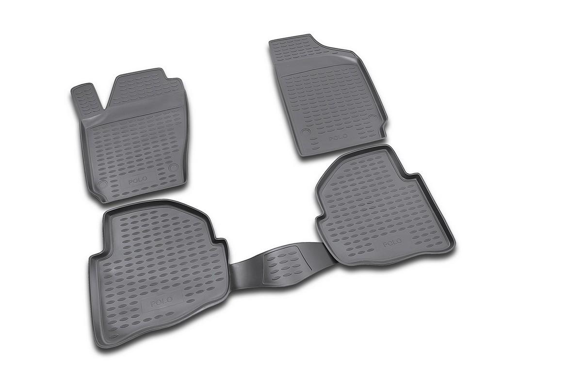 Набор автомобильных ковриков Novline-Autofamily для Volkswagen Polo 02/2002-2009, в салон, 4 шт98298130Набор автомобильных ковриков Novline-Autofamily, изготовленный из полиуретана, состоит из 4 ковриков, которые учитывают все особенности каждой модели автомобиля и полностью повторяют контуры пола. Полиуретановые автомобильные коврики для салона произведены из высококачественного материала, который держит форму, прочный и не пачкает обувь. Коврики в салон не только улучшат внешний вид салона вашего автомобиля, но и надежно уберегут его от пыли, грязи и сырости, а значит, защитят кузов от коррозии. Полиуретановые коврики для автомобиля гладкие, приятные и не пропускают влагу. Ковры для автомобилей надежно крепятся на полу и не скользят, что очень важно во время движения. Чистятся коврики очень просто: как при помощи автомобильного пылесоса, так и различными моющими средствами. Набор подходит для Volkswagen Polo февраль 2002 - 2009 годов выпуска.