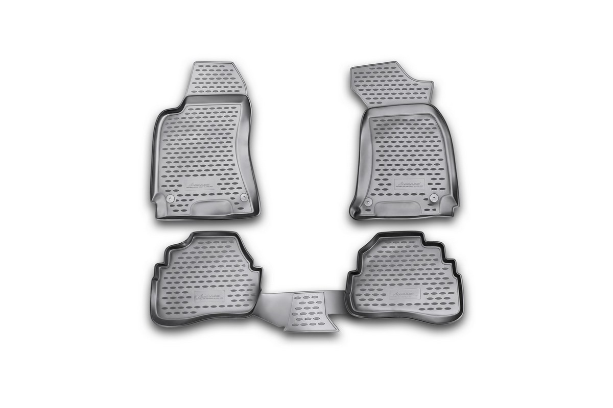 Набор автомобильных ковриков Novline-Autofamily для Volkswagen Passat B5 1996-2005, в салон, цвет: черный, 4 штDH2400D/ORНабор автомобильных ковриков Novline-Autofamily, изготовленный из полиуретана, состоит из 4 ковриков, которые учитывают все особенности каждой модели автомобиля и полностью повторяют контуры пола. Полиуретановые автомобильные коврики для салона произведены из высококачественного материала, который держит форму, прочный и не пачкает обувь. Коврики в салон не только улучшат внешний вид салона вашего автомобиля, но и надежно уберегут его от пыли, грязи и сырости, а значит, защитят кузов от коррозии. Полиуретановые коврики для автомобиля гладкие, приятные и не пропускают влагу. Ковры для автомобилей надежно крепятся на полу и не скользят, что очень важно во время движения. Чистятся коврики очень просто: как при помощи автомобильного пылесоса, так и различными моющими средствами. Набор подходит для Volkswagen Passat B5 1996-2005 годов выпуска.