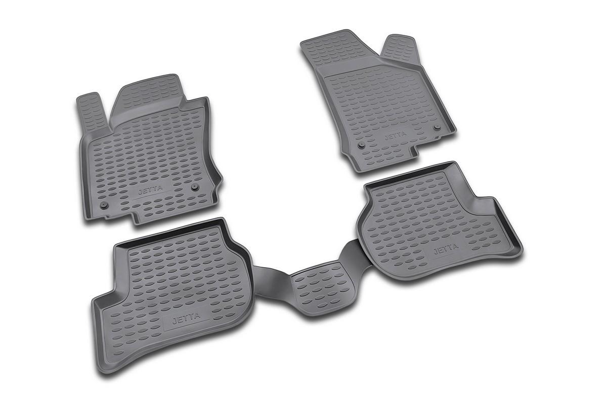 Набор автомобильных ковриков Novline-Autofamily для Volkswagen Jetta 02/2005-, в салон, 4 шт. NLC.51.14.210kh54 009318Набор автомобильных ковриков Novline-Autofamily, изготовленный из полиуретана, состоит из 4 ковриков, которые учитывают все особенности каждой модели автомобиля и полностью повторяют контуры пола. Полиуретановые автомобильные коврики для салона произведены из высококачественного материала, который держит форму, прочный и не пачкает обувь. Коврики в салон не только улучшат внешний вид салона вашего автомобиля, но и надежно уберегут его от пыли, грязи и сырости, а значит, защитят кузов от коррозии. Полиуретановые коврики для автомобиля гладкие, приятные и не пропускают влагу. Ковры для автомобилей надежно крепятся на полу и не скользят, что очень важно во время движения. Чистятся коврики очень просто: как при помощи автомобильного пылесоса, так и различными моющими средствами. Набор подходит для Volkswagen Jetta с февраля 2005 года выпуска.