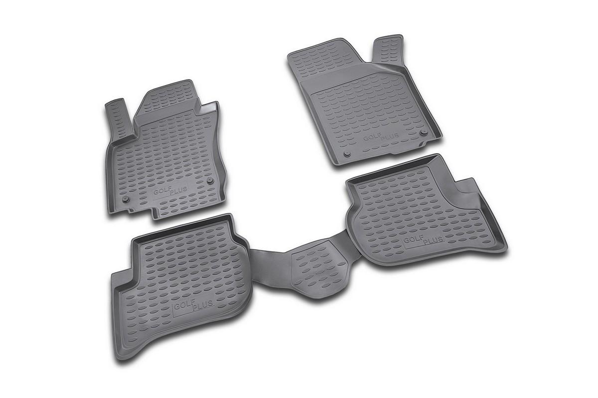 Коврики в салон автомобиля Novline-Autofamily для VW Golf Plus, 12/2004 -, 4 штNLC.51.16.210Коврики Novline-Autofamily улучшат внешний вид салона автомобиля и надежно уберегут его от пыли, грязи и сырости, а значит, защитят кузов от коррозии. Полиуретановые коврики гладкие, приятные и не пропускает влагу. Полиуретановые автомобильные коврики произведены из высококачественного материала, который держит форму и не пачкает обувь. Коврики надежно крепятся на полу и не скользят, что очень важно во время движения, особенно для водителя. Изделия из полиуретана надежно удерживают грязь и влагу, при этом всегда выглядят довольно опрятно. И чистятся они очень просто: как при помощи автомобильного пылесоса, так и различными моющими средствами.