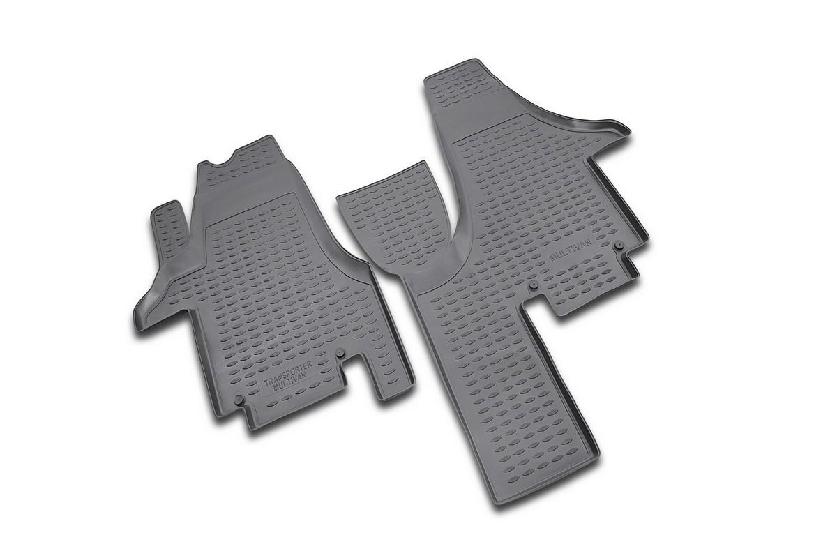 Набор автомобильных ковриков Novline-Autofamily для Volkswagen Multivan 2004-, в салон, 2 шт98298130Набор автомобильных ковриков Novline-Autofamily, изготовленный из полиуретана, состоит из 2 ковриков, которые учитывают все особенности каждой модели автомобиля и полностью повторяют контуры пола. Полиуретановые автомобильные коврики для салона произведены из высококачественного материала, который держит форму, прочный и не пачкает обувь. Коврики в салон не только улучшат внешний вид салона вашего автомобиля, но и надежно уберегут его от пыли, грязи и сырости, а значит, защитят кузов от коррозии. Полиуретановые коврики для автомобиля гладкие, приятные и не пропускают влагу. Ковры для автомобилей надежно крепятся на полу и не скользят, что очень важно во время движения. Чистятся коврики очень просто: как при помощи автомобильного пылесоса, так и различными моющими средствами. Набор подходит для Volkswagen Multivan с 2004 года выпуска.