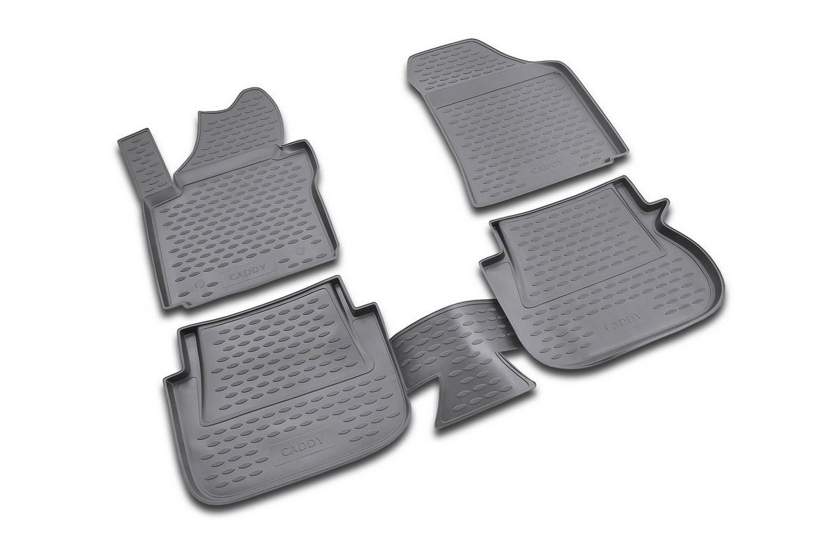 Набор автомобильных ковриков Novline-Autofamily для Volkswagen Caddy 10/2007-, в салон, 4 шт98298130Набор автомобильных ковриков Novline-Autofamily, изготовленный из полиуретана, состоит из 4 ковриков, которые учитывают все особенности каждой модели автомобиля и полностью повторяют контуры пола. Полиуретановые автомобильные коврики для салона произведены из высококачественного материала, который держит форму, прочный и не пачкает обувь. Коврики в салон не только улучшат внешний вид салона вашего автомобиля, но и надежно уберегут его от пыли, грязи и сырости, а значит, защитят кузов от коррозии. Полиуретановые коврики для автомобиля гладкие, приятные и не пропускают влагу. Ковры для автомобилей надежно крепятся на полу и не скользят, что очень важно во время движения. Чистятся коврики очень просто: как при помощи автомобильного пылесоса, так и различными моющими средствами. Набор подходит для Volkswagen Caddy с октября 2007 года выпуска.