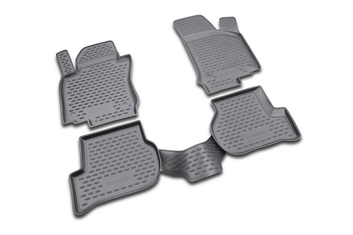 Набор автомобильных ковриков Novline-Autofamily для Volkswagen Scirocco 04/2009-, в салон, 4 штCA-3505Набор автомобильных ковриков Novline-Autofamily, изготовленный из полиуретана, состоит из 4 ковриков, которые учитывают все особенности каждой модели автомобиля и полностью повторяют контуры пола. Полиуретановые автомобильные коврики для салона произведены из высококачественного материала, который держит форму, прочный и не пачкает обувь. Коврики в салон не только улучшат внешний вид салона вашего автомобиля, но и надежно уберегут его от пыли, грязи и сырости, а значит, защитят кузов от коррозии. Полиуретановые коврики для автомобиля гладкие, приятные и не пропускают влагу. Ковры для автомобилей надежно крепятся на полу и не скользят, что очень важно во время движения. Чистятся коврики очень просто: как при помощи автомобильного пылесоса, так и различными моющими средствами. Набор подходит для Volkswagen Scirocco с апреля 2009 года выпуска.