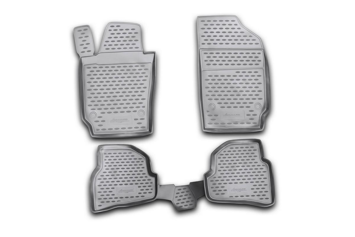 Набор автомобильных ковриков Novline-Autofamily для Volkswagen Polo V 12/2009-, хэтчбек, в салон, 4 шт98298130Набор автомобильных ковриков Novline-Autofamily, изготовленный из полиуретана, состоит из 4 ковриков, которые учитывают все особенности каждой модели автомобиля и полностью повторяют контуры пола. Полиуретановые автомобильные коврики для салона произведены из высококачественного материала, который держит форму, прочный и не пачкает обувь. Коврики в салон не только улучшат внешний вид салона вашего автомобиля, но и надежно уберегут его от пыли, грязи и сырости, а значит, защитят кузов от коррозии. Полиуретановые коврики для автомобиля гладкие, приятные и не пропускают влагу. Ковры для автомобилей надежно крепятся на полу и не скользят, что очень важно во время движения. Чистятся коврики очень просто: как при помощи автомобильного пылесоса, так и различными моющими средствами. Набор подходит для Volkswagen Polo V хэтчбек с декабря 2009 года выпуска.