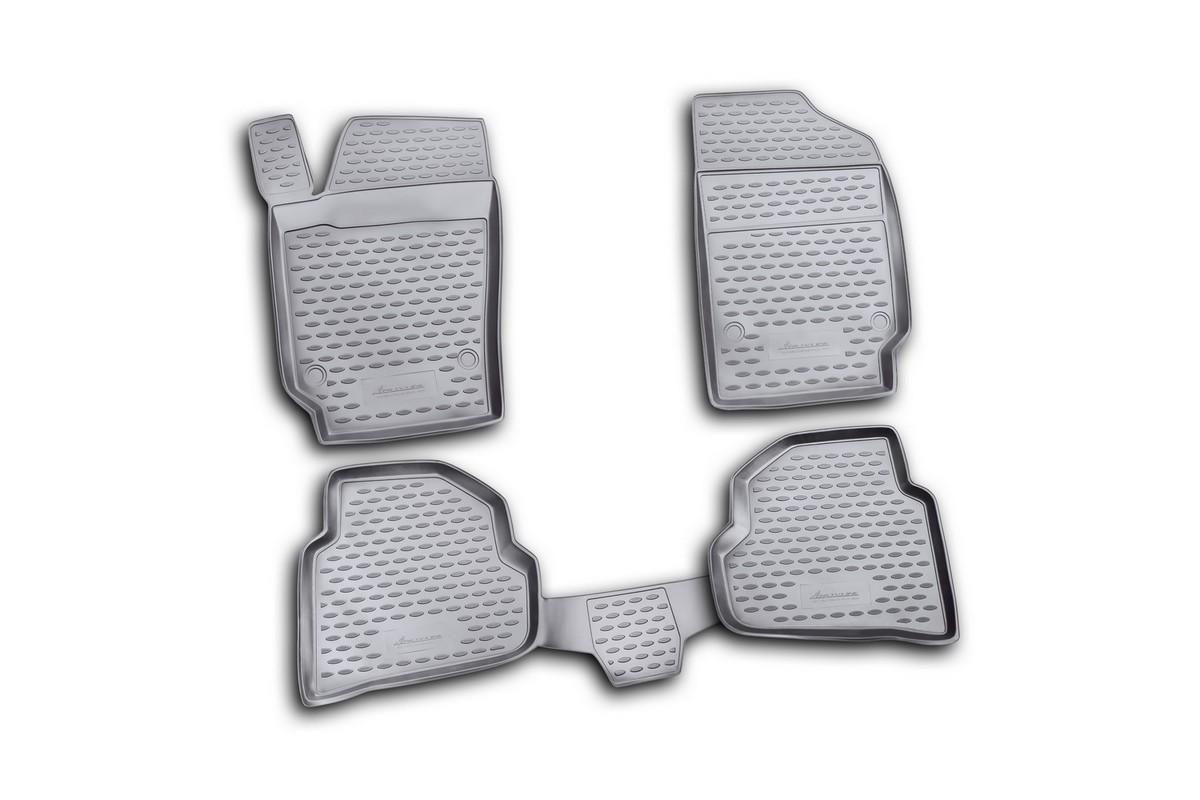 Коврики в салон автомобиля Novline-Autofamily для VW Polo, 2010 -, седан, 4 шт64105001Коврики Novline-Autofamily улучшат внешний вид салона автомобиля и надежно уберегут его от пыли, грязи и сырости, а значит, защитят кузов от коррозии. Полиуретановые коврики гладкие, приятные и не пропускает влагу. Полиуретановые автомобильные коврики произведены из высококачественного материала, который держит форму и не пачкает обувь. Коврики надежно крепятся на полу и не скользят, что очень важно во время движения, особенно для водителя. Изделия из полиуретана надежно удерживают грязь и влагу, при этом всегда выглядят довольно опрятно. И чистятся они очень просто: как при помощи автомобильного пылесоса, так и различными моющими средствами.