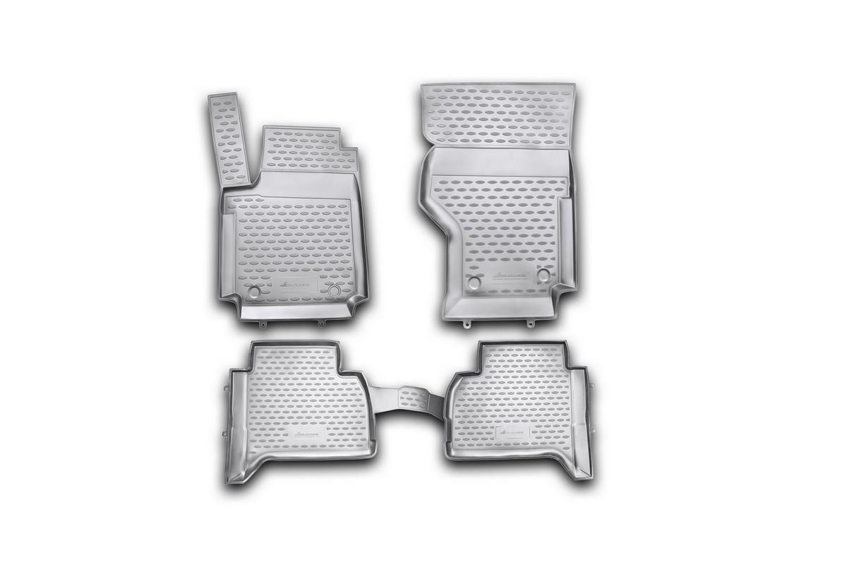 Набор автомобильных ковриков Novline-Autofamily для Volkswagen Amarok 2010-, в салон, 4 штВетерок 2ГФНабор автомобильных ковриков Novline-Autofamily, изготовленный из полиуретана, состоит из 4 ковриков, которые учитывают все особенности каждой модели автомобиля и полностью повторяют контуры пола. Полиуретановые автомобильные коврики для салона произведены из высококачественного материала, который держит форму, прочный и не пачкает обувь. Коврики в салон не только улучшат внешний вид салона вашего автомобиля, но и надежно уберегут его от пыли, грязи и сырости, а значит, защитят кузов от коррозии. Полиуретановые коврики для автомобиля гладкие, приятные и не пропускают влагу. Ковры для автомобилей надежно крепятся на полу и не скользят, что очень важно во время движения. Чистятся коврики очень просто: как при помощи автомобильного пылесоса, так и различными моющими средствами. Набор подходит для Volkswagen Amarok с 2010 года выпуска.