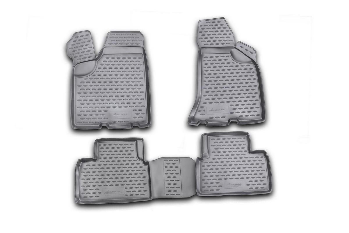 Набор автомобильных ковриков Novline-Autofamily для Lada Priora 2007-2009, в салон, 4 шт94672Набор автомобильных ковриков Novline-Autofamily, изготовленный из полиуретана, состоит из 4 ковриков, которые учитывают все особенности каждой модели автомобиля и полностью повторяют контуры пола. Полиуретановые автомобильные коврики для салона произведены из высококачественного материала, который держит форму, прочный и не пачкает обувь. Коврики в салон не только улучшат внешний вид салона вашего автомобиля, но и надежно уберегут его от пыли, грязи и сырости, а значит, защитят кузов от коррозии. Полиуретановые коврики для автомобиля гладкие, приятные и не пропускают влагу. Ковры для автомобилей надежно крепятся на полу и не скользят, что очень важно во время движения. Чистятся коврики очень просто: как при помощи автомобильного пылесоса, так и различными моющими средствами. Набор подходит для Lada Priora 2007-2009 годов выпуска.