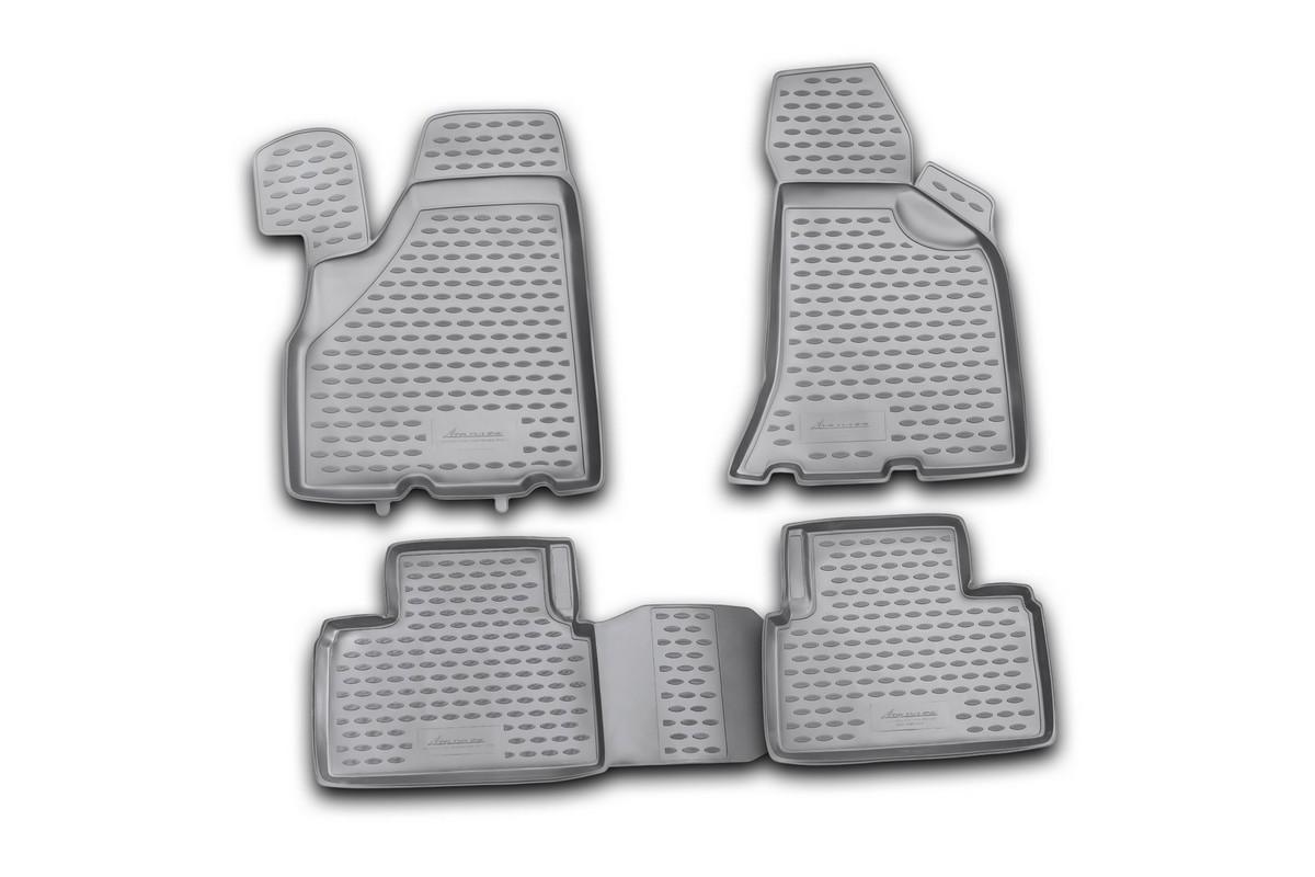 Набор автомобильных ковриков Novline-Autofamily для Lada Priora 2010-, в салон, 4 штАксион Т-33Набор автомобильных ковриков Novline-Autofamily, изготовленный из полиуретана, состоит из 4 ковриков, которые учитывают все особенности каждой модели автомобиля и полностью повторяют контуры пола. Полиуретановые автомобильные коврики для салона произведены из высококачественного материала, который держит форму, прочный и не пачкает обувь. Коврики в салон не только улучшат внешний вид салона вашего автомобиля, но и надежно уберегут его от пыли, грязи и сырости, а значит, защитят кузов от коррозии. Полиуретановые коврики для автомобиля гладкие, приятные и не пропускают влагу. Ковры для автомобилей надежно крепятся на полу и не скользят, что очень важно во время движения. Чистятся коврики очень просто: как при помощи автомобильного пылесоса, так и различными моющими средствами. Набор подходит для Lada Priora с 2010 года выпуска.