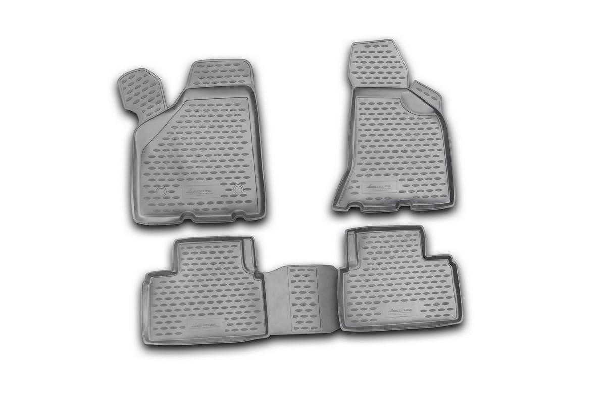 Набор автомобильных ковриков Novline-Autofamily для Lada Priora Coupe 2010-, в салон, 4 шт. NLC.52.22.210kNLC.20.07.210Набор автомобильных ковриков Novline-Autofamily, изготовленный из полиуретана, состоит из 4 ковриков, которые учитывают все особенности каждой модели автомобиля и полностью повторяют контуры пола. Полиуретановые автомобильные коврики для салона произведены из высококачественного материала, который держит форму, прочный и не пачкает обувь. Коврики в салон не только улучшат внешний вид салона вашего автомобиля, но и надежно уберегут его от пыли, грязи и сырости, а значит, защитят кузов от коррозии. Полиуретановые коврики для автомобиля гладкие, приятные и не пропускают влагу. Ковры для автомобилей надежно крепятся на полу и не скользят, что очень важно во время движения. Чистятся коврики очень просто: как при помощи автомобильного пылесоса, так и различными моющими средствами. Набор подходит для Lada Priora Coupe с 2010 года выпуска.