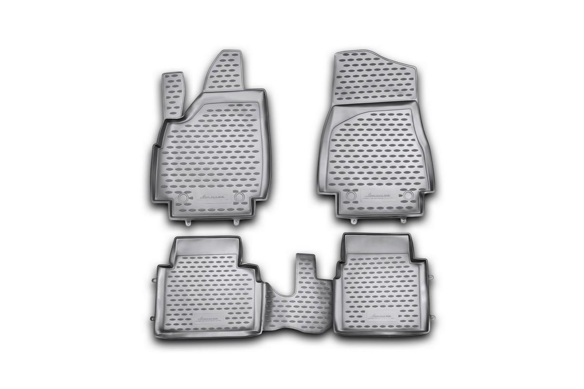 Набор автомобильных ковриков Novline-Autofamily для ВАЗ 21214М 3D 10/2009-, в салон, 4 шт. NLC.52.23.210kh14202002Набор автомобильных ковриков Novline-Autofamily, изготовленный из полиуретана, состоит из 4 ковриков, которые учитывают все особенности каждой модели автомобиля и полностью повторяют контуры пола. Полиуретановые автомобильные коврики для салона произведены из высококачественного материала, который держит форму, прочный и не пачкает обувь. Коврики в салон не только улучшат внешний вид салона вашего автомобиля, но и надежно уберегут его от пыли, грязи и сырости, а значит, защитят кузов от коррозии. Полиуретановые коврики для автомобиля гладкие, приятные и не пропускают влагу. Ковры для автомобилей надежно крепятся на полу и не скользят, что очень важно во время движения. Чистятся коврики очень просто: как при помощи автомобильного пылесоса, так и различными моющими средствами. Набор подходит для ВАЗ 21214М 3D с октября 2009 года выпуска.