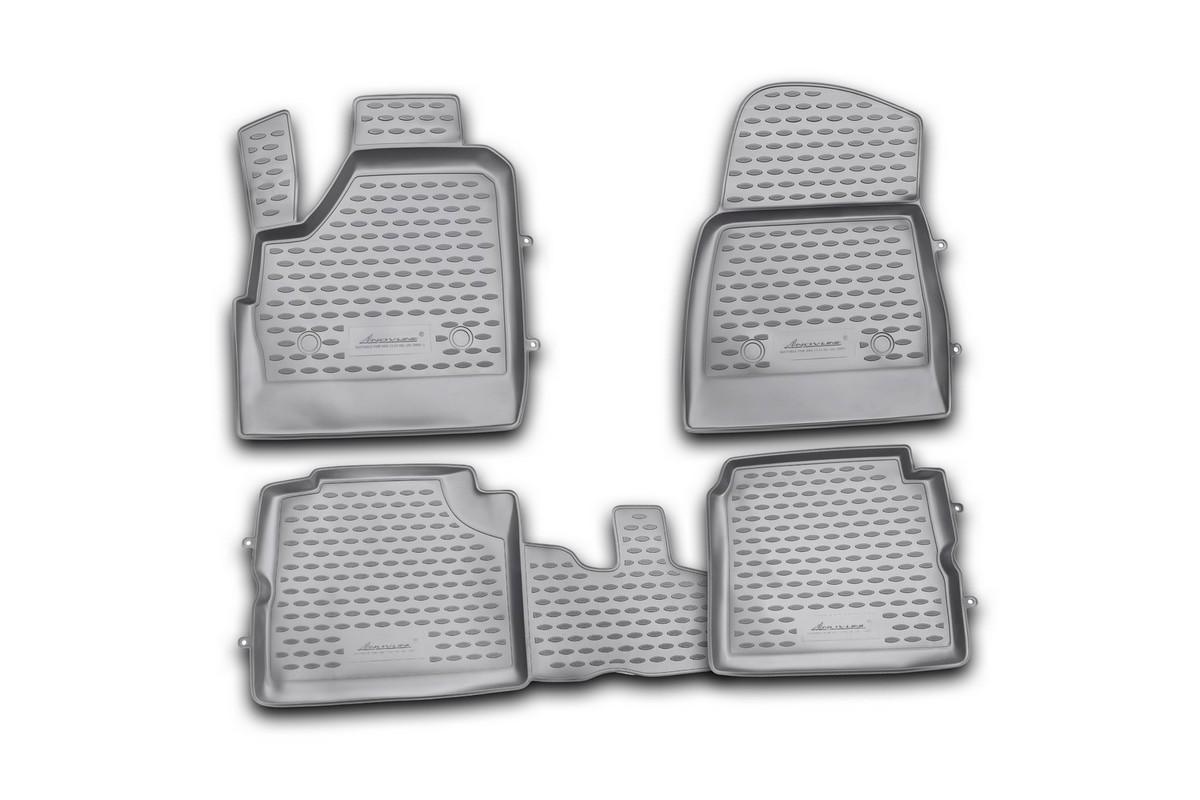 Коврики в салон автомобиля Novline-Autofamily для ВАЗ 2131 Lada 4x4, 5d, 10/2009 -SC-FD421005Коврики Novline-Autofamily улучшат внешний вид салона автомобиля и надежно уберегут его от пыли, грязи и сырости, а значит, защитят кузов от коррозии. Полиуретановые коврики гладкие, приятные и не пропускает влагу. Полиуретановые автомобильные коврики произведены из высококачественного материала, который держит форму и не пачкает обувь. Коврики надежно крепятся на полу и не скользят, что очень важно во время движения, особенно для водителя. Изделия из полиуретана надежно удерживают грязь и влагу, при этом всегда выглядят довольно опрятно. И чистятся они очень просто: как при помощи автомобильного пылесоса, так и различными моющими средствами.