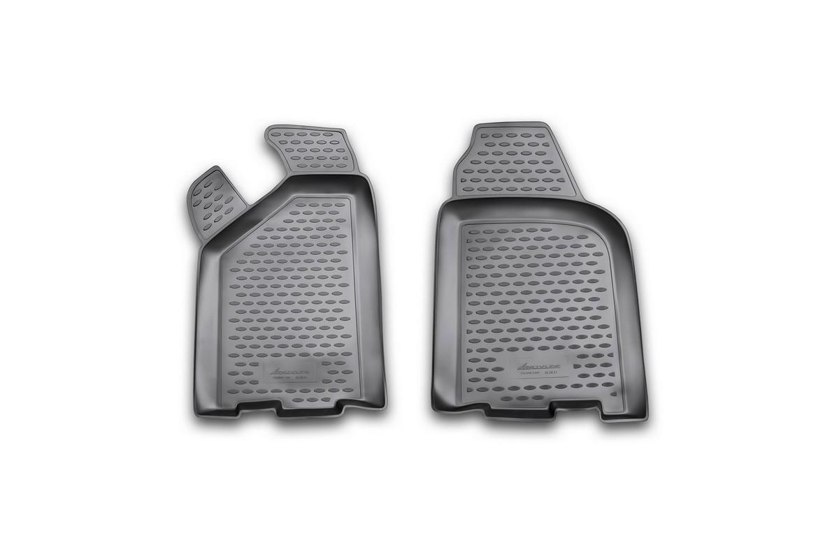 Набор автомобильных ковриков Novline-Autofamily для ВАЗ ВИС 2347 01/2007-, в салон, 2 шт12311001Набор автомобильных ковриков Novline-Autofamily, изготовленный из полиуретана, состоит из 2 ковриков, которые учитывают все особенности каждой модели автомобиля и полностью повторяют контуры пола. Полиуретановые автомобильные коврики для салона произведены из высококачественного материала, который держит форму, прочный и не пачкает обувь. Коврики в салон не только улучшат внешний вид салона вашего автомобиля, но и надежно уберегут его от пыли, грязи и сырости, а значит, защитят кузов от коррозии. Полиуретановые коврики для автомобиля гладкие, приятные и не пропускают влагу. Ковры для автомобилей надежно крепятся на полу и не скользят, что очень важно во время движения. Чистятся коврики очень просто: как при помощи автомобильного пылесоса, так и различными моющими средствами. Набор подходит для ВАЗ ВИС 2347 с января 2007 года выпуска.