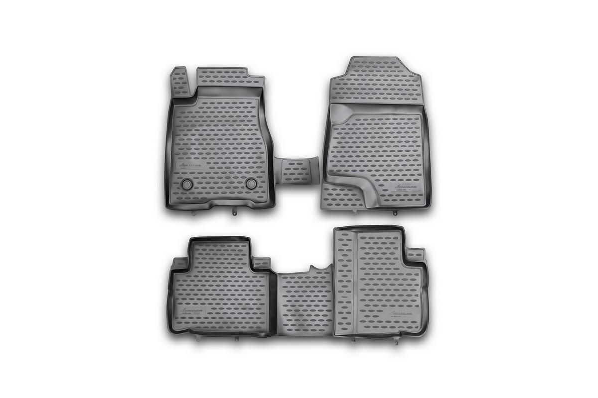 Набор автомобильных ковриков Novline-Autofamily для Great Wall Hover H6 2012-, в салон, 4 штNLC.59.12.210khНабор автомобильных ковриков Novline-Autofamily, изготовленный из полиуретана, состоит из 4 ковриков, которые учитывают все особенности каждой модели автомобиля и полностью повторяют контуры пола. Полиуретановые автомобильные коврики для салона произведены из высококачественного материала, который держит форму, прочный и не пачкает обувь. Коврики в салон не только улучшат внешний вид салона вашего автомобиля, но и надежно уберегут его от пыли, грязи и сырости, а значит, защитят кузов от коррозии. Полиуретановые коврики для автомобиля гладкие, приятные и не пропускают влагу. Ковры для автомобилей надежно крепятся на полу и не скользят, что очень важно во время движения. Чистятся коврики очень просто: как при помощи автомобильного пылесоса, так и различными моющими средствами. Набор подходит для Great Wall Hover H6 с 2012 года выпуска.