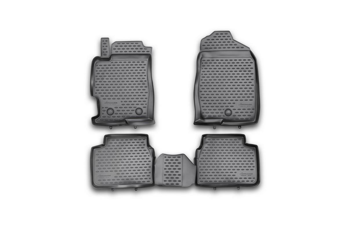 Набор автомобильных ковриков Novline-Autofamily для Faw B50 Besturn 2012-, в салон, 4 шт94672Набор автомобильных ковриков Novline-Autofamily, изготовленный из полиуретана, состоит из 4 ковриков, которые учитывают все особенности каждой модели автомобиля и полностью повторяют контуры пола. Полиуретановые автомобильные коврики для салона произведены из высококачественного материала, который держит форму, прочный и не пачкает обувь. Коврики в салон не только улучшат внешний вид салона вашего автомобиля, но и надежно уберегут его от пыли, грязи и сырости, а значит, защитят кузов от коррозии. Полиуретановые коврики для автомобиля гладкие, приятные и не пропускают влагу. Ковры для автомобилей надежно крепятся на полу и не скользят, что очень важно во время движения. Чистятся коврики очень просто: как при помощи автомобильного пылесоса, так и различными моющими средствами. Набор подходит для Faw B50 Besturn c 2012 года выпуска.