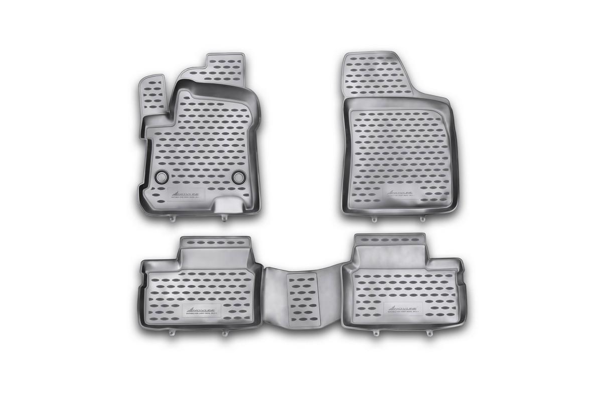 Набор автомобильных ковриков Novline-Autofamily для Chery Indis 2011-, в салон, 4 шт. NLC.63.12.210khВетерок 2ГФНабор автомобильных ковриков Novline-Autofamily, изготовленный из полиуретана, состоит из 4 ковриков, которые учитывают все особенности каждой модели автомобиля и полностью повторяют контуры пола. Полиуретановые автомобильные коврики для салона произведены из высококачественного материала, который держит форму, прочный и не пачкает обувь. Коврики в салон не только улучшат внешний вид салона вашего автомобиля, но и надежно уберегут его от пыли, грязи и сырости, а значит, защитят кузов от коррозии. Полиуретановые коврики для автомобиля гладкие, приятные и не пропускают влагу. Ковры для автомобилей надежно крепятся на полу и не скользят, что очень важно во время движения. Чистятся коврики очень просто: как при помощи автомобильного пылесоса, так и различными моющими средствами. Набор подходит для Chery Indis с 2011 года выпуска.