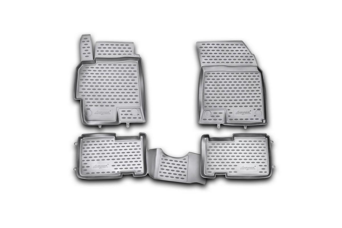 Набор автомобильных ковриков Novline-Autofamily для Chery Crosseaster 2011-, в салон, 4 шт240000Набор автомобильных ковриков Novline-Autofamily, изготовленный из полиуретана, состоит из 4 ковриков, которые учитывают все особенности каждой модели автомобиля и полностью повторяют контуры пола. Полиуретановые автомобильные коврики для салона произведены из высококачественного материала, который держит форму, прочный и не пачкает обувь. Коврики в салон не только улучшат внешний вид салона вашего автомобиля, но и надежно уберегут его от пыли, грязи и сырости, а значит, защитят кузов от коррозии. Полиуретановые коврики для автомобиля гладкие, приятные и не пропускают влагу. Ковры для автомобилей надежно крепятся на полу и не скользят, что очень важно во время движения. Чистятся коврики очень просто: как при помощи автомобильного пылесоса, так и различными моющими средствами. Набор подходит для Chery Crosseaster с 2011 года выпуска.