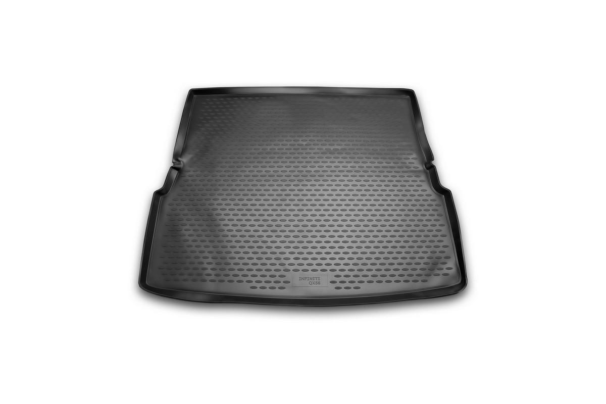 Коврик автомобильный Novline-Autofamily для Infiniti QX56 внедорожник 2004-2010, в багажник. NLC.76.02.B13gВетерок 2ГФАвтомобильный коврик Novline-Autofamily, изготовленный из полиуретана, позволит вам без особых усилий содержать в чистоте багажный отсек вашего авто и при этом перевозить в нем абсолютно любые грузы. Этот модельный коврик идеально подойдет по размерам багажнику вашего автомобиля. Такой автомобильный коврик гарантированно защитит багажник от грязи, мусора и пыли, которые постоянно скапливаются в этом отсеке. А кроме того, поддон не пропускает влагу. Все это надолго убережет важную часть кузова от износа. Коврик в багажнике сильно упростит для вас уборку. Согласитесь, гораздо проще достать и почистить один коврик, нежели весь багажный отсек. Тем более, что поддон достаточно просто вынимается и вставляется обратно. Мыть коврик для багажника из полиуретана можно любыми чистящими средствами или просто водой. При этом много времени у вас уборка не отнимет, ведь полиуретан устойчив к загрязнениям.Если вам приходится перевозить в багажнике тяжелые грузы, за сохранность коврика можете не беспокоиться. Он сделан из прочного материала, который не деформируется при механических нагрузках и устойчив даже к экстремальным температурам. А кроме того, коврик для багажника надежно фиксируется и не сдвигается во время поездки, что является дополнительной гарантией сохранности вашего багажа.Коврик имеет форму и размеры, соответствующие модели данного автомобиля.