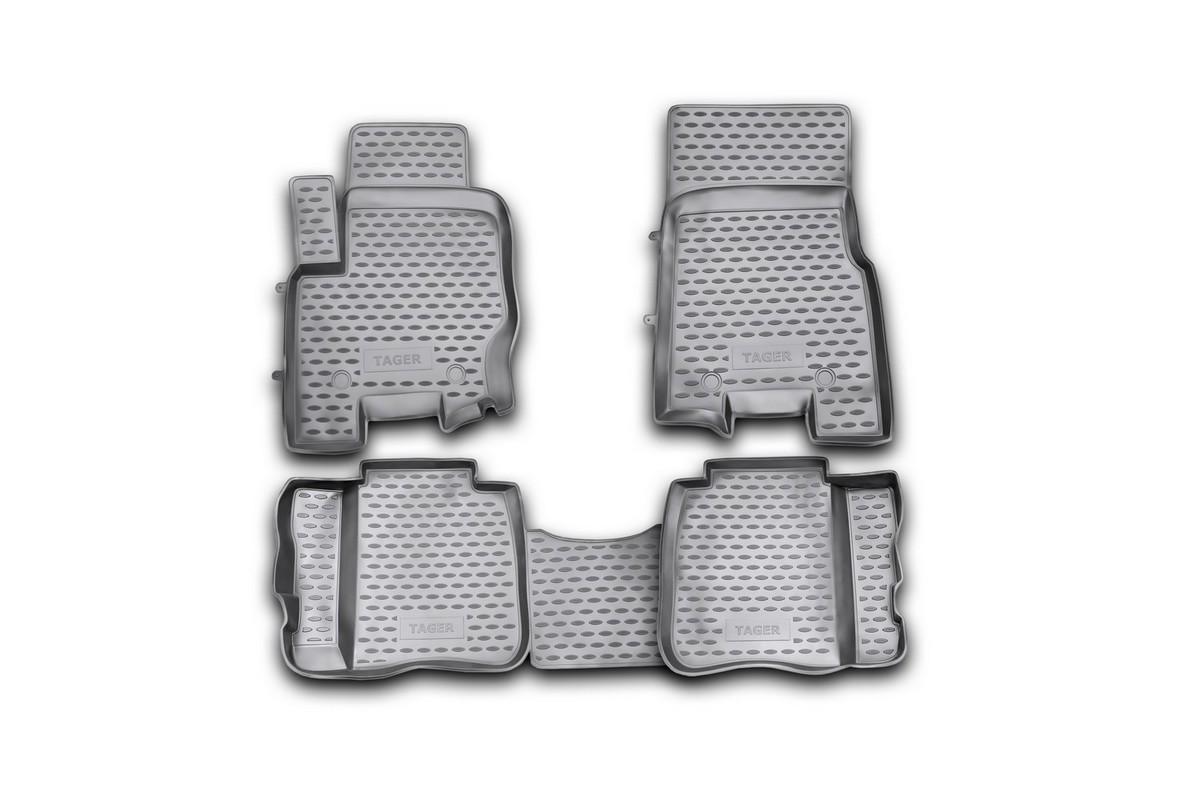 Коврики в салон ТАГАЗ Tager 06/2008->, 4 шт. (полиуретан)21395599Коврики в салон не только улучшат внешний вид салона вашего автомобиля, но и надежно уберегут его от пыли, грязи и сырости, а значит, защитят кузов от коррозии. Полиуретановые коврики для автомобиля гладкие, приятные и не пропускают влагу. Автомобильные коврики в салон учитывают все особенности каждой модели и полностью повторяют контуры пола. Благодаря этому их не нужно будет подгибать или обрезать. И самое главное — они не будут мешать педалям.Полиуретановые автомобильные коврики для салона произведены из высококачественного материала, который держит форму и не пачкает обувь. К тому же, этот материал очень прочный (его, к примеру, не получится проткнуть каблуком).Некоторые автоковрики становятся источником неприятного запаха в автомобиле. С полиуретановыми ковриками Novline вы можете этого не бояться.Ковры для автомобилей надежно крепятся на полу и не скользят, что очень важно во время движения, особенно для водителя.Автоковры из полиуретана надежно удерживают грязь и влагу, при этом всегда выглядят довольно опрятно. И чистятся они очень просто: как при помощи автомобильного пылесоса, так и различными моющими средствами.