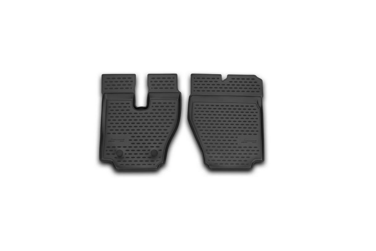 Набор автомобильных ковриков Novline-Autofamily для Hino 700 2014-, в салон, 2 штF520250E1Набор автомобильных ковриков Novline-Autofamily, изготовленный из полиуретана, состоит из 2 ковриков, которые учитывают все особенности каждой модели автомобиля и полностью повторяют контуры пола. Полиуретановые автомобильные коврики для салона произведены из высококачественного материала, который держит форму, прочный и не пачкает обувь. Коврики в салон не только улучшат внешний вид салона вашего автомобиля, но и надежно уберегут его от пыли, грязи и сырости, а значит, защитят кузов от коррозии. Полиуретановые коврики для автомобиля гладкие, приятные и не пропускают влагу. Ковры для автомобилей надежно крепятся на полу и не скользят, что очень важно во время движения. Чистятся коврики очень просто: как при помощи автомобильного пылесоса, так и различными моющими средствами. Набор подходит для Hino 700 с 2014 года выпуска.