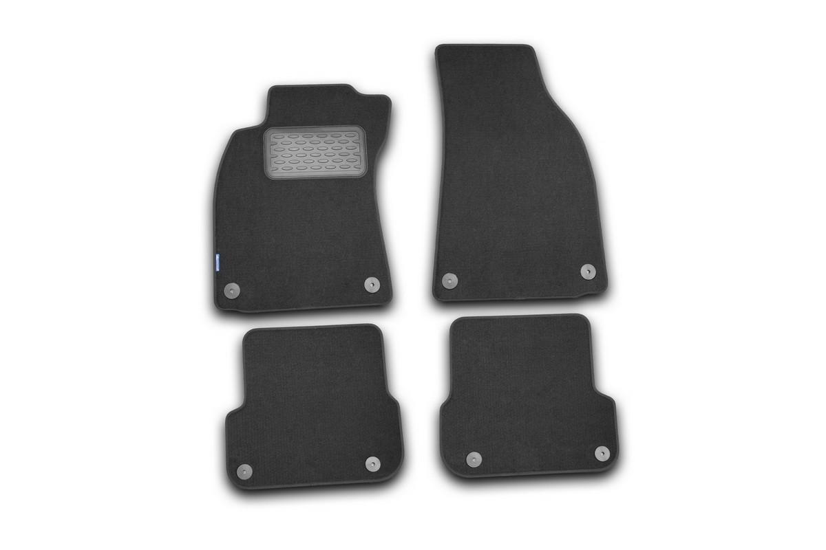 Набор автомобильных ковриков Novline-Autofamily для Audi A6 АКПП 2004-, седан, в салон, 4 шт. NLT.04.08.11.110kha030071Набор автомобильных ковриков Novline-Autofamily, изготовленный из текстиля, состоит из 4 ковриков, которые учитывают все особенности каждой модели автомобиля и полностью повторяют контуры пола. Текстильные автомобильные коврики для салона произведены из высококачественного материала, который держит форму, прочный и не пачкает обувь. Коврики в салон не только улучшат внешний вид салона вашего автомобиля, но и надежно уберегут его от пыли, грязи и сырости, а значит, защитят кузов от коррозии. Текстильные коврики для автомобиля мягкие и приятные, а их основа из вспененного полиуретана не пропускает влагу. Ковры для автомобилей надежно крепятся на полу и не скользят, что очень важно во время движения. Чистятся коврики очень просто: как при помощи автомобильного пылесоса, так и различными моющими средствами. Набор подходит для Audi A6 АКПП с 2004 года выпуска.