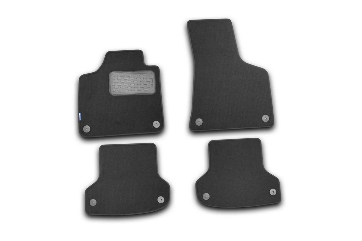 Набор автомобильных ковриков Novline-Autofamily для Audi A3 5D АКПП 2007-, хэтчбек, в салон, 4 штNLC.3D.41.19.212kНабор автомобильных ковриков Novline-Autofamily, изготовленный из текстиля, состоит из 4 ковриков, которые учитывают все особенности каждой модели автомобиля и полностью повторяют контуры пола. Текстильные автомобильные коврики для салона произведены из высококачественного материала, который держит форму, прочный и не пачкает обувь. Коврики в салон не только улучшат внешний вид салона вашего автомобиля, но и надежно уберегут его от пыли, грязи и сырости, а значит, защитят кузов от коррозии. Текстильные коврики для автомобиля мягкие и приятные, а их основа из вспененного полиуретана не пропускает влагу. Ковры для автомобилей надежно крепятся на полу и не скользят, что очень важно во время движения. Чистятся коврики очень просто: как при помощи автомобильного пылесоса, так и различными моющими средствами. Набор подходит для Audi A3 5D АКПП хэтчбек с 2007 года выпуска.